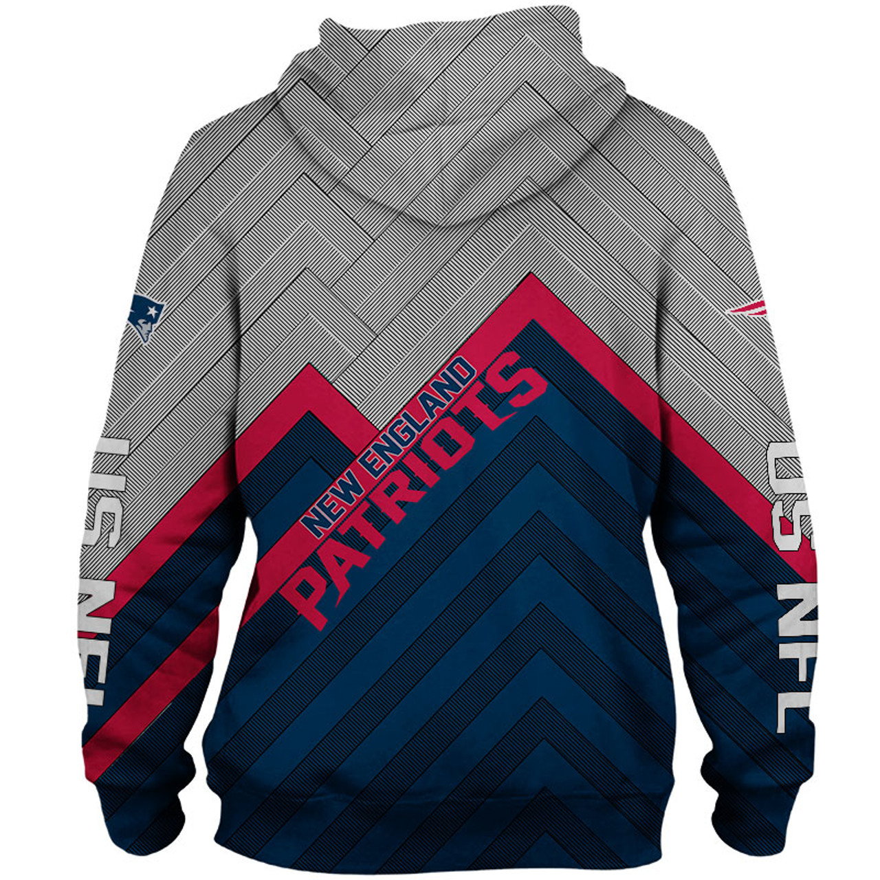 New OFFICIAL NEW N.F.L.NEW ENGLAND PATRIOTS PULLOVER HOODIES3D CUSTOM