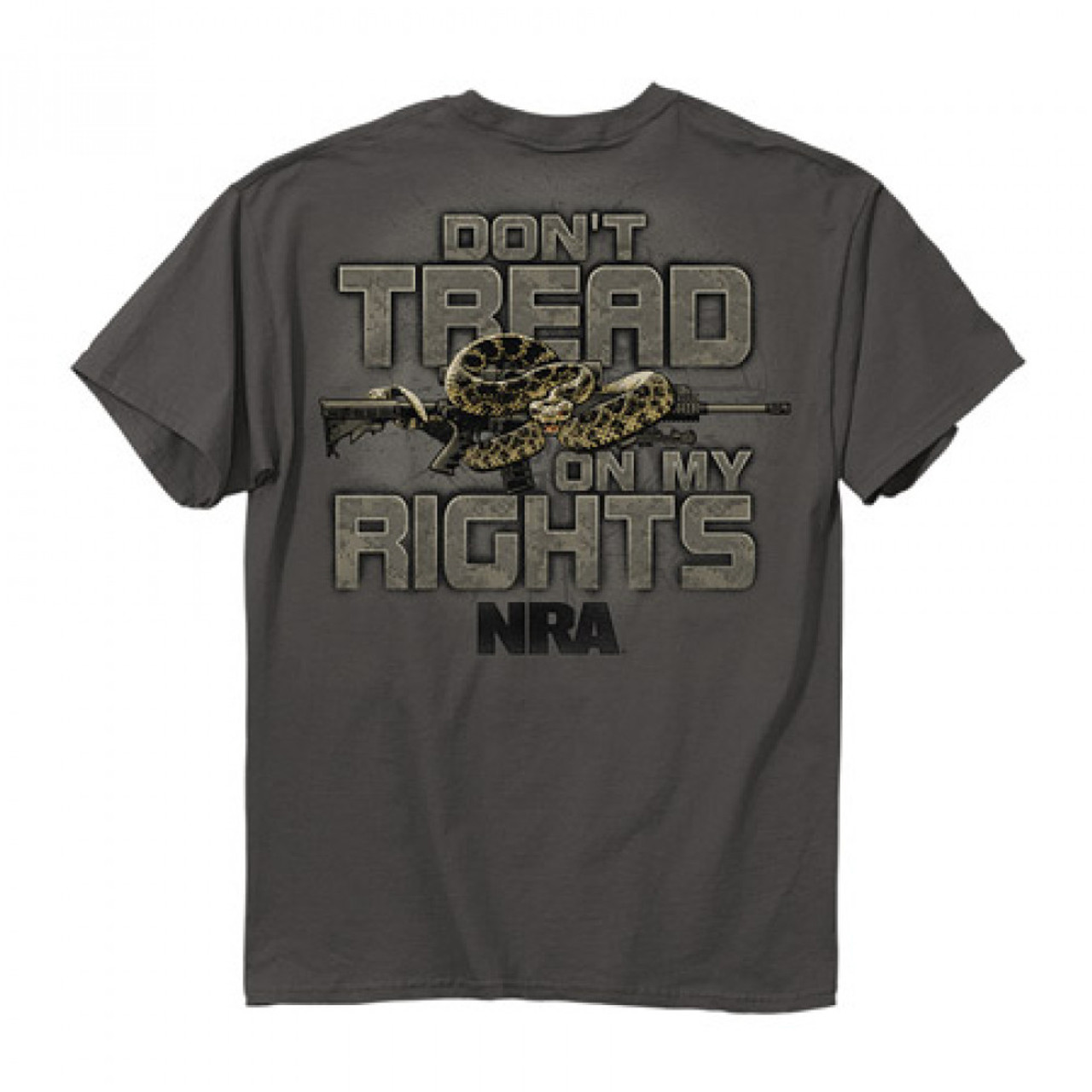 **(NEW-TRENDY-OFFICIALLY-LICENSED-N.R.A.DON'T-TREAD-ON-MY-RIGHTS & SNAKE,NICE-GRAPHIC-PRINTED-PREMIUM-DOUBLE-SIDED-TEES:)**