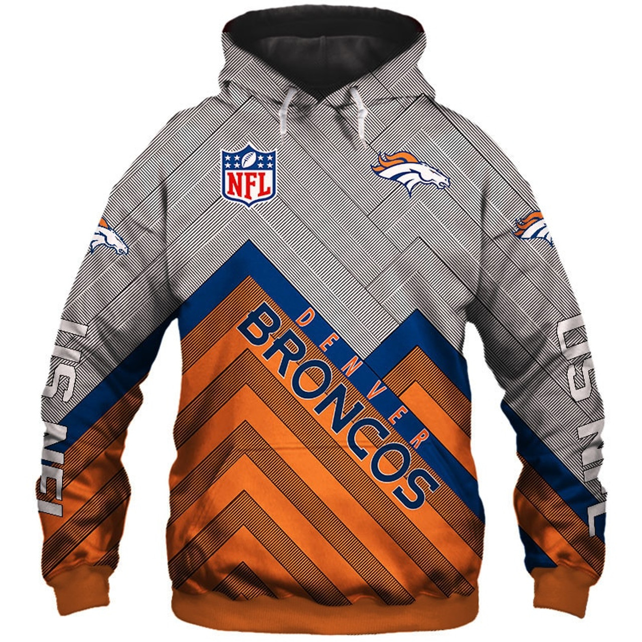 low priced 792ea baa93 **(NEW-OFFICIAL-N.F.L.DENVER-BRONCOS-PULLOVER-HOODIES/3D-CUSTOM-DENVERS-LOGOS  & OFFICIAL-BRONCOS-TEAM-COLORS/NICE-3D-DETAILED-GRAPHIC-PRINTED-DOUBLE-S...