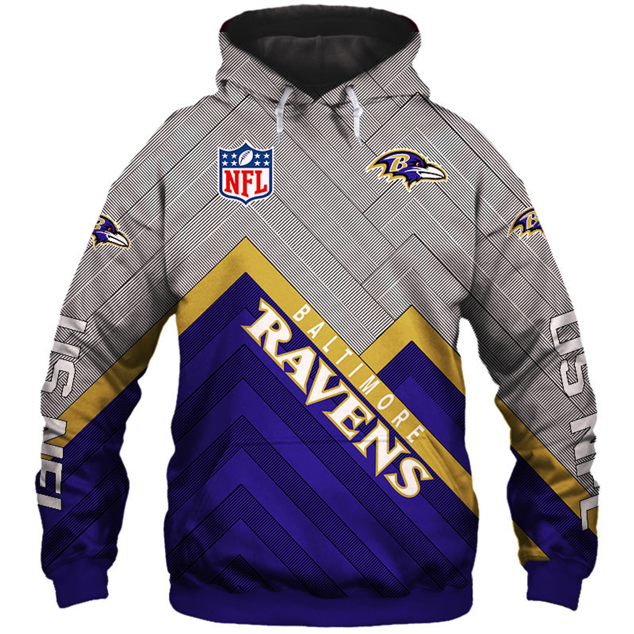 pretty nice 85cbe 4a9fa **(NEW-OFFICIAL-N.F.L.BALTIMORE-RAVENS-PULLOVER-HOODIES/3D-CUSTOM-RAVENS-LOGOS  & OFFICIAL-RAVENS-TEAM-COLORS/NICE-3D-DETAILED-GRAPHIC-PRINTED-DOUBLE-S...