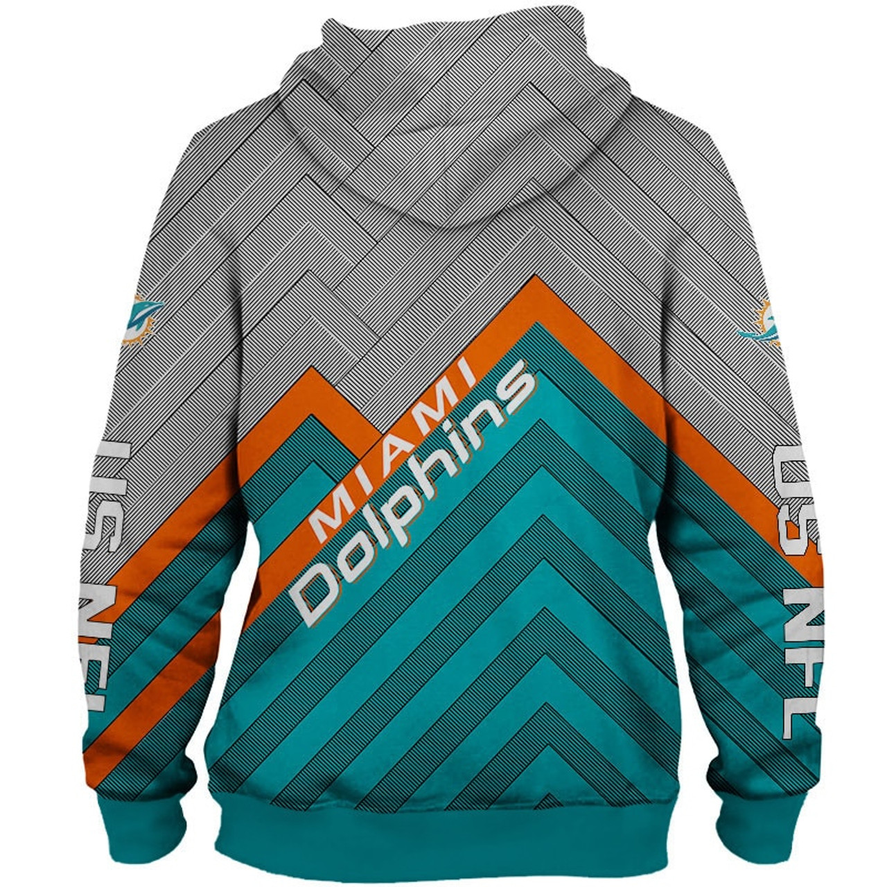 buy popular 147ee eac1e **(NEW-OFFICIAL-N.F.L.MIAMI-DOLPHINS-PULLOVER-HOODIES/3D-CUSTOM-DOLPHINS-LOGOS  & OFFICIAL-DOLPHINS-TEAM-COLORS/NICE-3D-DETAILED-GRAPHIC-PRINTED-DOUBLE...