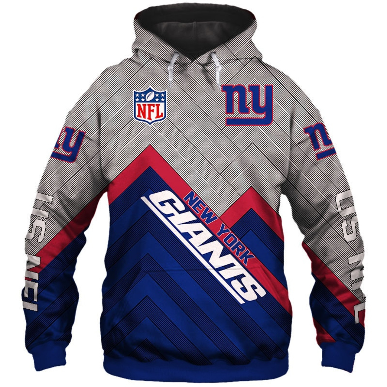 big sale 1f06a f54a5 **(NEW-OFFICIAL-N.F.L.NEW-YORK-GIANTS-PULLOVER-HOODIES/3D-CUSTOM-GIANTS-LOGOS  & OFFICIAL-GIANTS-TEAM-COLORS/NICE-3D-DETAILED-GRAPHIC-PRINTED-DOUBLE-SI...