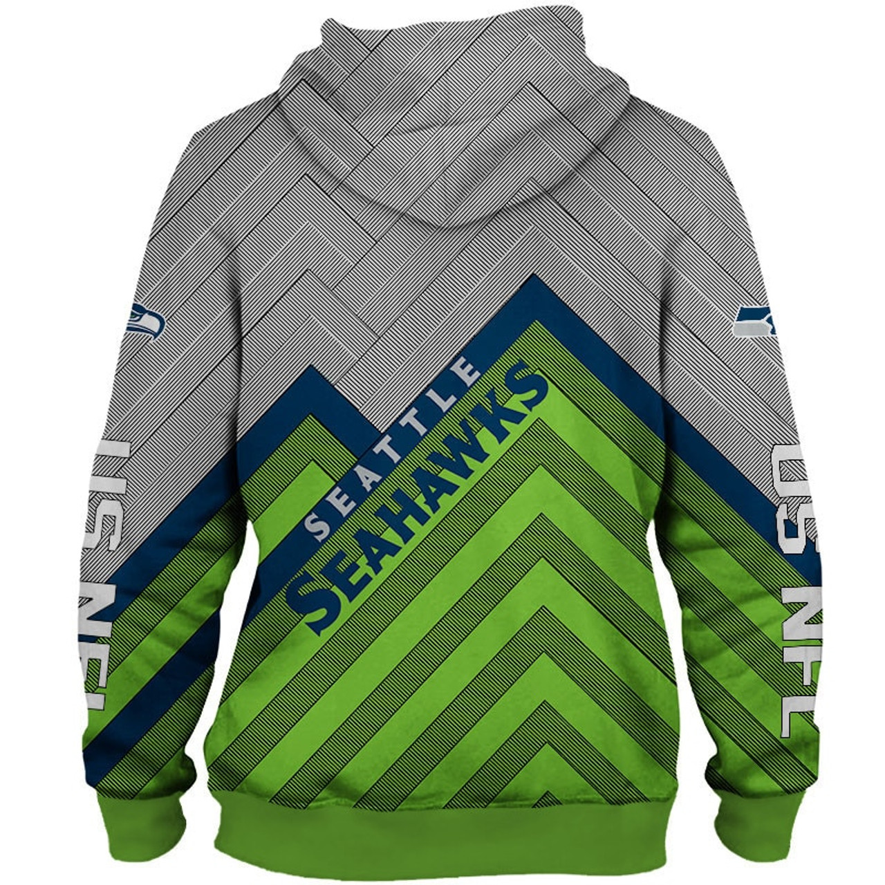 timeless design bc940 135aa **(OFFICIAL-N.F.L.SEATTLE-SEAHAWKS-PULLOVER-HOODIES/3D-CUSTOM-SEAHAWKS-LOGOS  & OFFICIAL-SEAHAWKS-TEAM-COLORS/NICE-3D-DETAILED-GRAPHIC-PRINTED-DOUBLE-S...