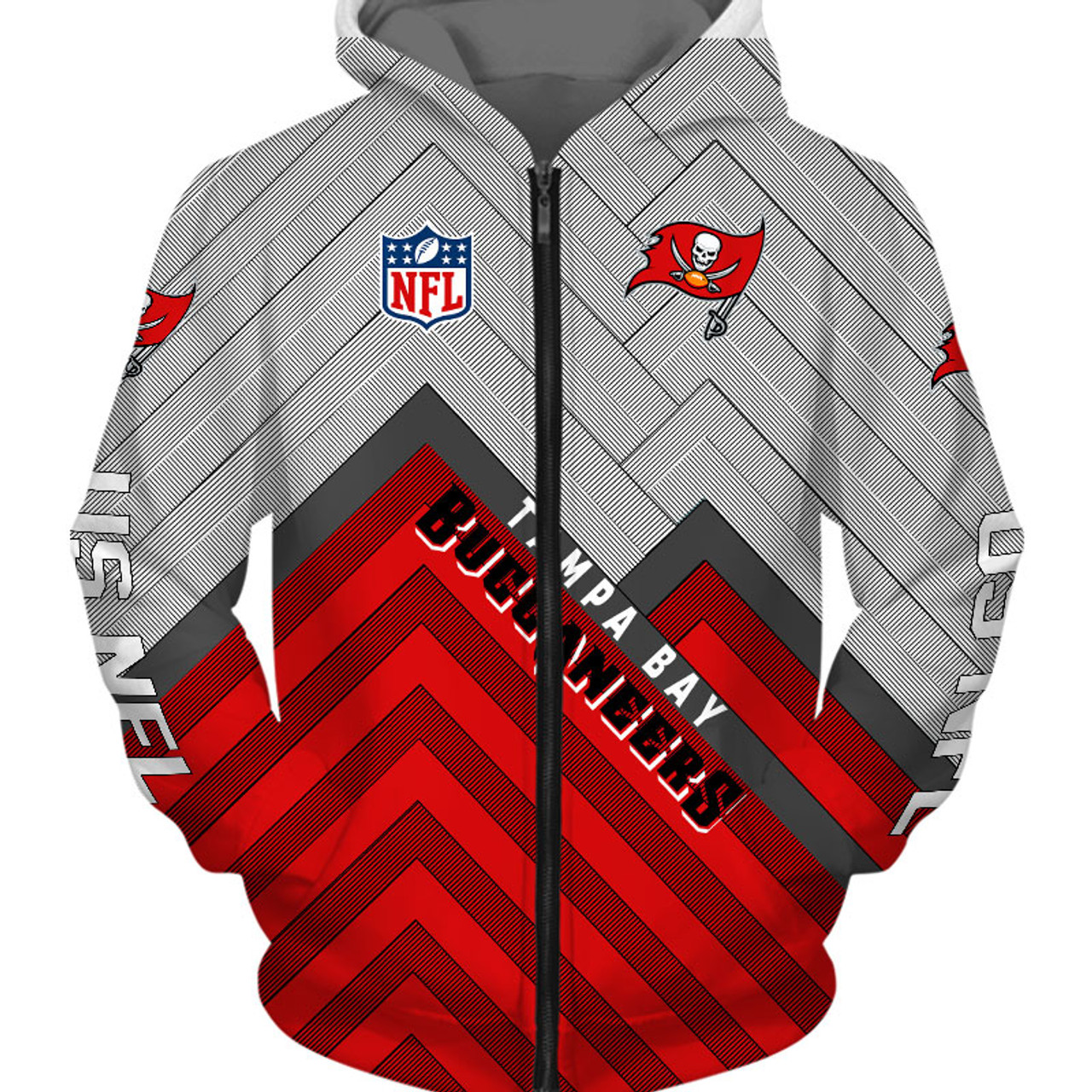 **(OFFICIAL-N.F.L.TAMPA-BAY-BUCCANEERS-ZIPPERED-HOODIES/3D-CUSTOM-BUCCANEERS-LOGOS & OFFICIAL-BUCCANEERS-TEAM-COLORS/NICE-3D-DETAILED-GRAPHIC-PRINTED-DOUBLE-SIDED/ALL-OVER-ENTIRE-HOODIE-PRINTED-DESIGN/WARM-PREMIUM-N.F.L.BUCCANEERS-ZIPPERED-HOODIES)**