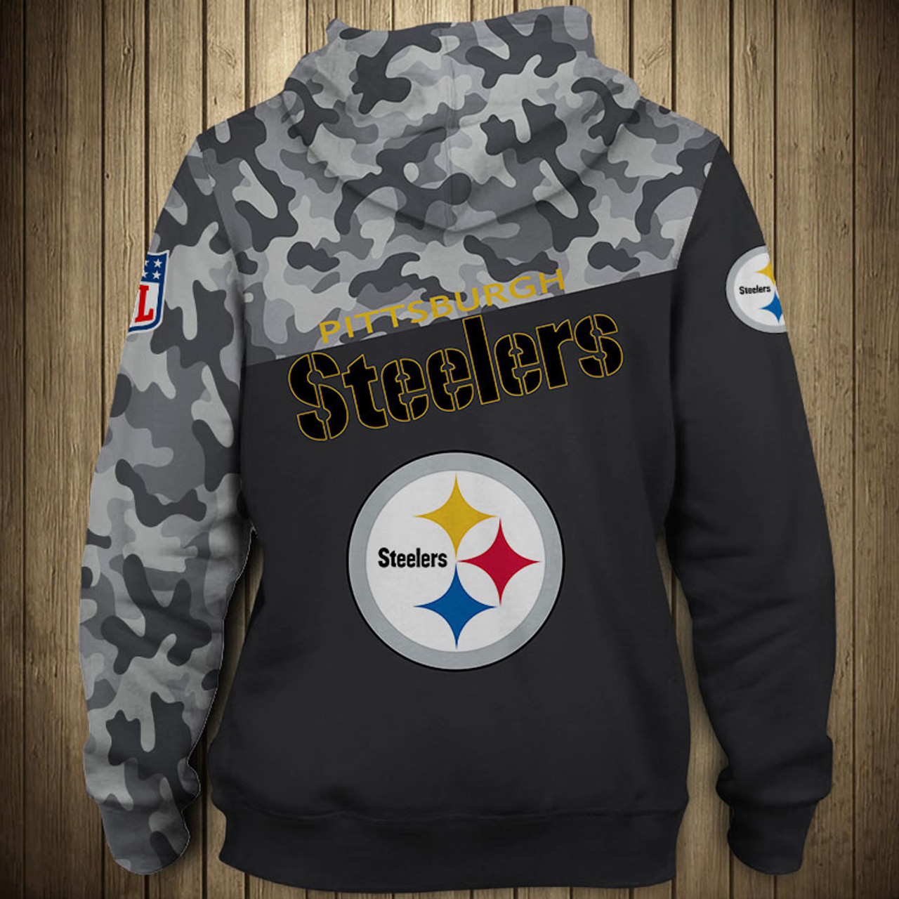 new arrival 0c610 46521 **(OFFICIAL-N.F.L.PITTSBURGH-STEELERS-CAMO.DESIGN-PULLOVER-HOODIES/3D-CUSTOM-STEELERS-LOGOS  & OFFICIAL-STEELERS-TEAM-COLORS/NICE-3D-DETAILED-GRAPHIC-P...