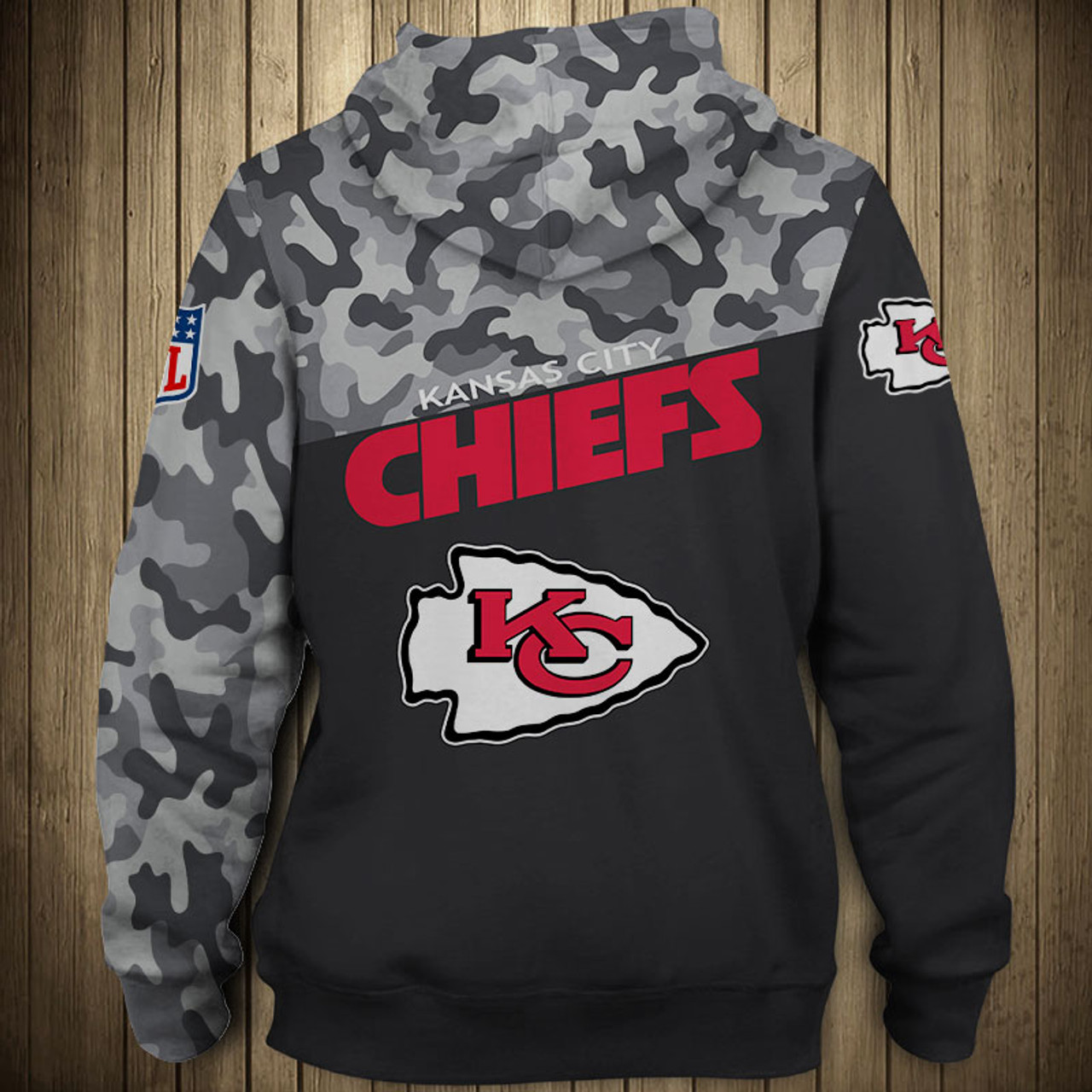 hot sale online 70ffe a2878 *(OFFICIAL-N.F.L.KANSAS-CITY-CHIEFS-CAMO.DESIGN-PULLOVER-HOODIES/3D-CUSTOM-CHIEFS-LOGOS  & OFFICIAL-CHIEFS-TEAM-COLORS/NICE-3D-DETAILED-GRAPHIC-PRINTED...