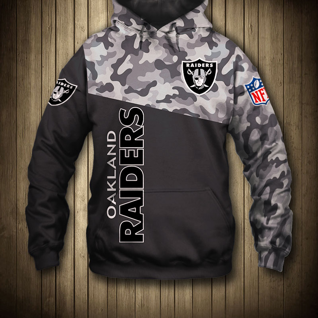 separation shoes 9ca31 9860f **(OFFICIAL-N.F.L.OAKLAND-RAIDERS-CAMO.DESIGN-PULLOVER-HOODIES/3D-CUSTOM-RAIDERS-LOGOS  & OFFICIAL-RAIDERS-TEAM-COLORS/NICE-3D-DETAILED-GRAPHIC-PRINTED...