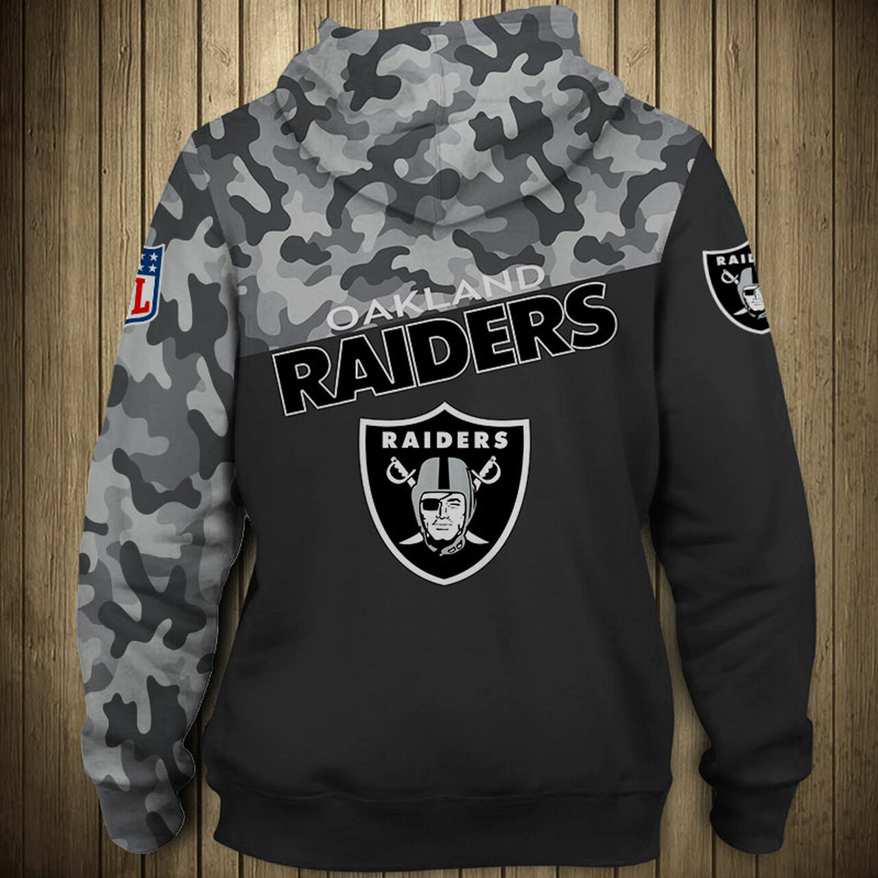 **(OFFICIAL-N.F.L.OAKLAND-RAIDERS-CAMO.DESIGN-PULLOVER-HOODIES/3D-CUSTOM-RAIDERS-LOGOS & OFFICIAL-RAIDERS-TEAM-COLORS/NICE-3D-DETAILED-GRAPHIC-PRINTED-DOUBLE-SIDED/ALL-OVER-ENTIRE-HOODIE-PRINTED-DESIGN/WARM-PREMIUM-N.F.L.RAIDERS-PULLOVER-HOODIES)**
