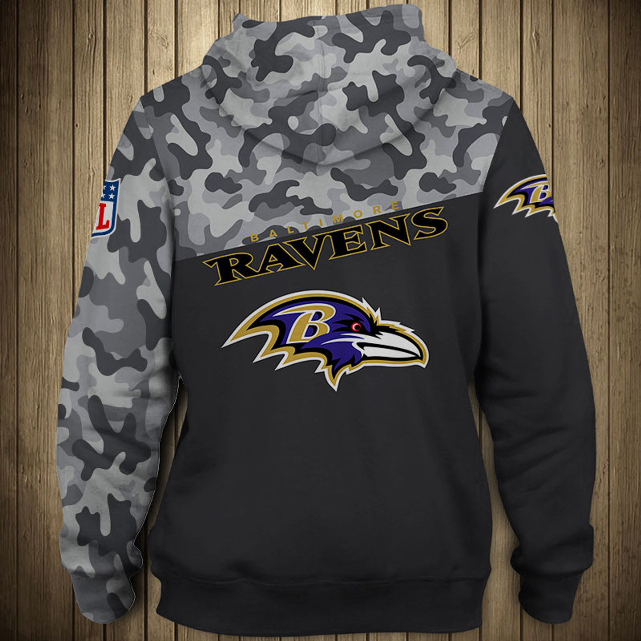 free shipping cabd3 350cc **(OFFICIAL-N.F.L.BALTIMORE-RAVENS-CAMO.DESIGN-PULLOVER-HOODIES/3D-CUSTOM-RAVENS-LOGOS  & OFFICIAL-RAVENS-TEAM-COLORS/NICE-3D-DETAILED-GRAPHIC-PRINTED-...
