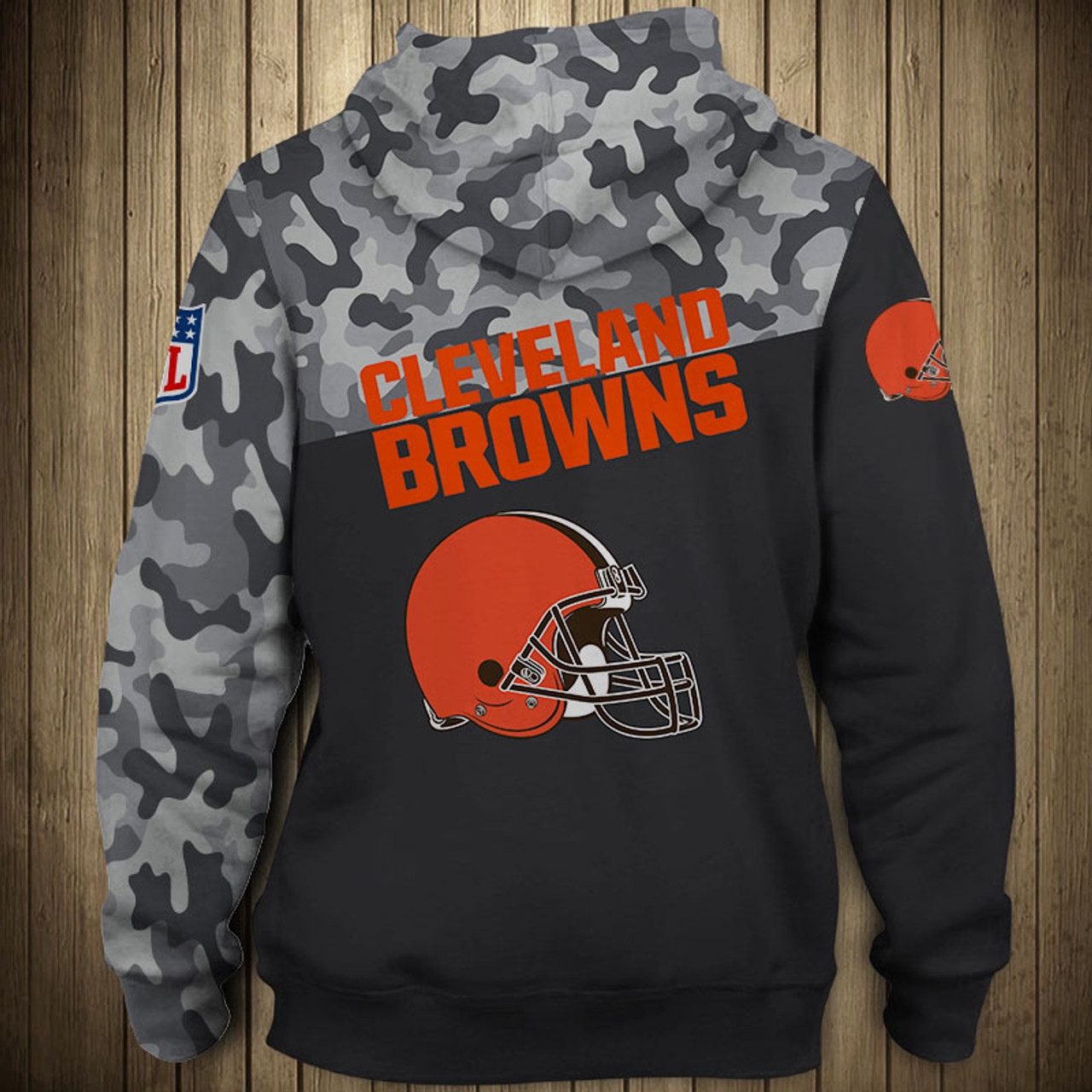best sneakers 24882 e9737 **(OFFICIAL-N.F.L.CLEVELAND-BROWNS-CAMO.DESIGN-PULLOVER-HOODIES/3D-CUSTOM-BROWNS-LOGOS  & OFFICIAL-BROWNS-TEAM-COLORS/NICE-3D-DETAILED-GRAPHIC-PRINTED-...