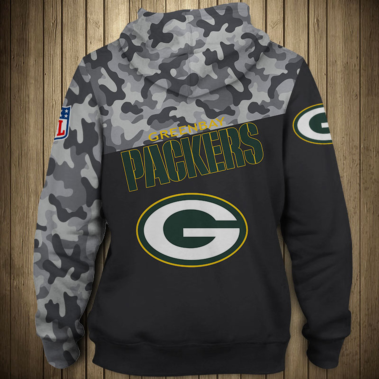 the best attitude a66f8 2a4ba **(OFFICIAL-N.F.L.GREEN-BAY-PACKERS-CAMO.DESIGN-PULLOVER-HOODIES/3D-CUSTOM-PACKERS-LOGOS  & OFFICIAL-PACKERS-TEAM-COLORS/NICE-3D-DETAILED-GRAPHIC-PRINT...