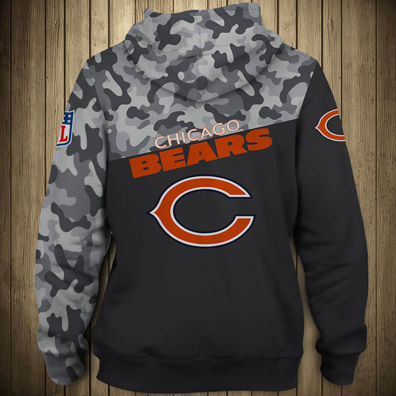 huge selection of 416bd 369ae chicago bears camouflage hoodie