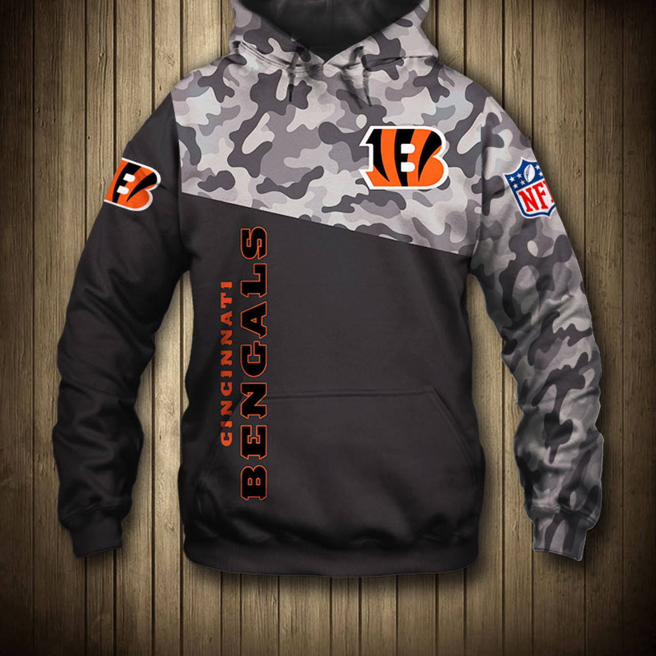 new products eb059 97200 **(OFFICIAL-N.F.L.CINCINNATI-BENGALS-CAMO.DESIGN-PULLOVER-HOODIES/3D-CUSTOM-BENGALS-LOGOS  & OFFICIAL-BENGALS-TEAM-COLORS/NICE-3D-DETAILED-GRAPHIC-PRIN...