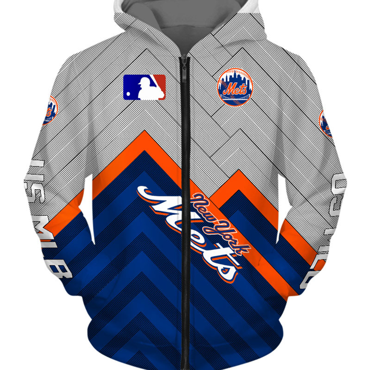 buy popular 01b6c 6d848 **(OFFICIAL-M.L.B.NEW-YORK-METS-TEAM-ZIPPERED-HOODIES/CUSTOM-DETAILED-3D-GRAPHIC-PRINTED/PREMIUM-ALL-OVER-DOUBLE-SIDED-PRINT/OFFICIAL-METS-TEAM-COLORS  ...