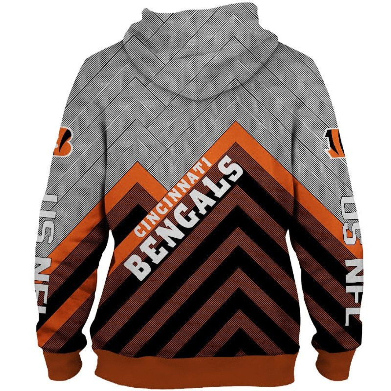 **(NEW-OFFICIAL-N.F.L.CINCINNATI-BENGALS-ZIPPERED-HOODIES/3D-CUSTOM-BENGALS-LOGOS & OFFICIAL-BENGALS-TEAM-COLORS/NICE-3D-DETAILED-GRAPHIC-PRINTED-DOUBLE-SIDED/ALL-OVER-ENTIRE-HOODIE-PRINTED-DESIGN/TRENDY-WARM-PREMIUM-BENGALS-ZIPPERED-HOODIES)**