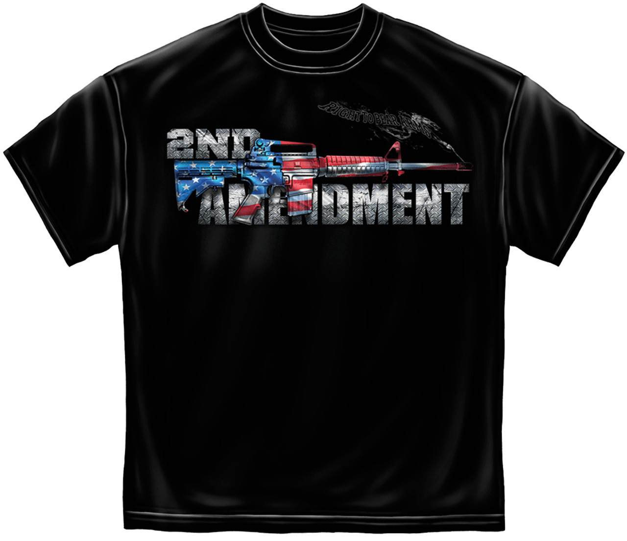 **(NEW-N.R.A.OFFICIALLY-LICENSED,2ND-AMENDMENT & AR-15-FLAG-COLORS,NICE-GRAPHIC-PRINTED-PREMIUM-DOUBLE-SIDED-TEES:)**