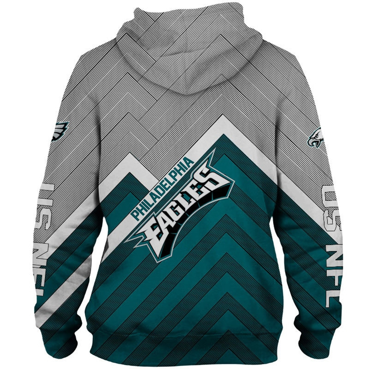 sneakers for cheap c7ba0 4f29b **(NEW-OFFICIAL-N.F.L.PHILADELPHIA-EAGLES-ZIPPERED-HOODIES/3D-CUSTOM-EAGLES-LOGOS  & OFFICIAL-TEAM-COLORS/NICE-3D-GRAPHIC-PRINTED-DOUBLE-SIDED/ALL-OVER...