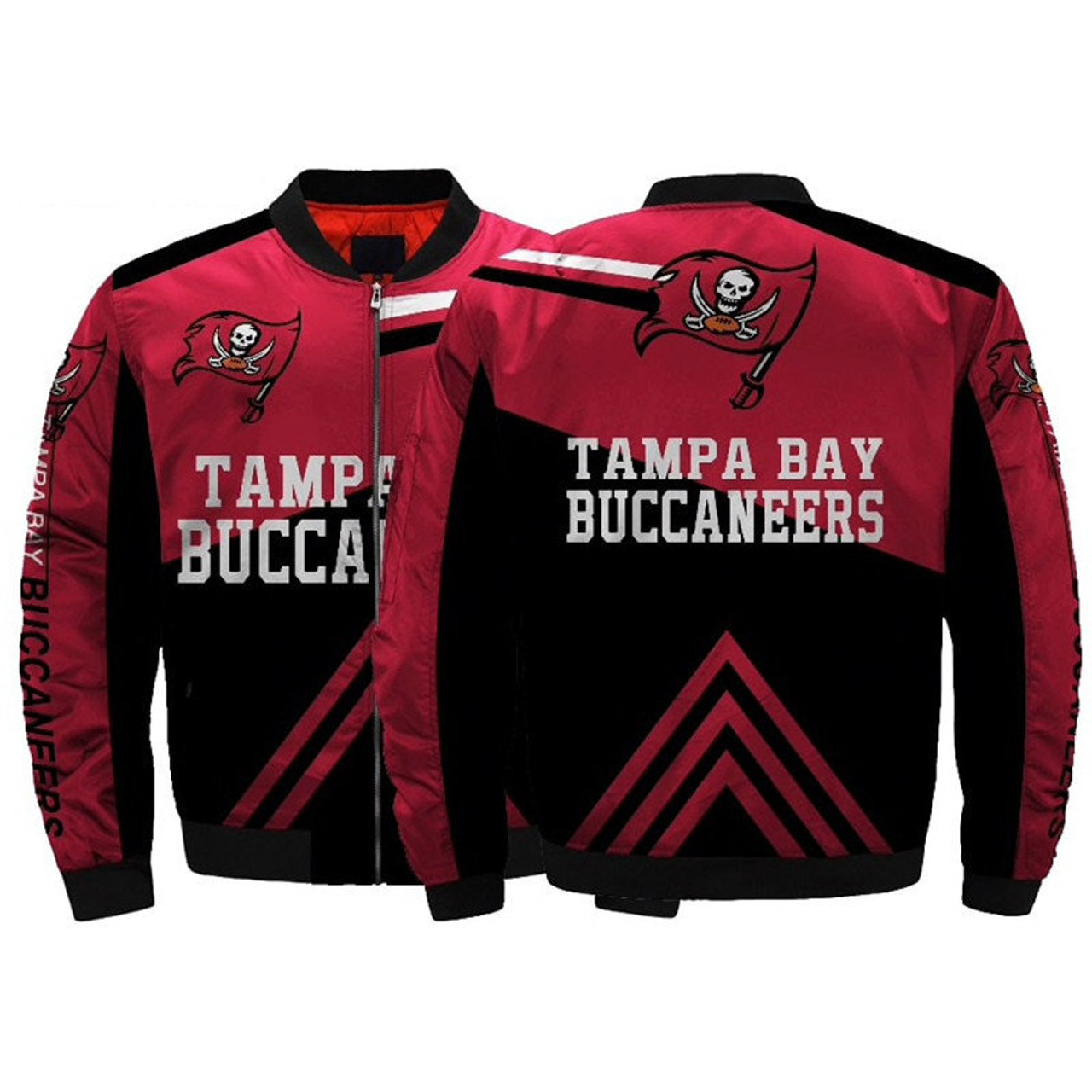 13e974e1 **(OFFICIAL-N.F.L.TAMPA-BAY-BUCCANEERS-JACKETS/CLASSIC-BUCCANEERS-TEAM-COLORS  & OFFICIAL-BUCCANEERS-LOGOS-BOMBER/FLIGHT-JACKET,NICE-DETAILED-CUSTOM-3D...