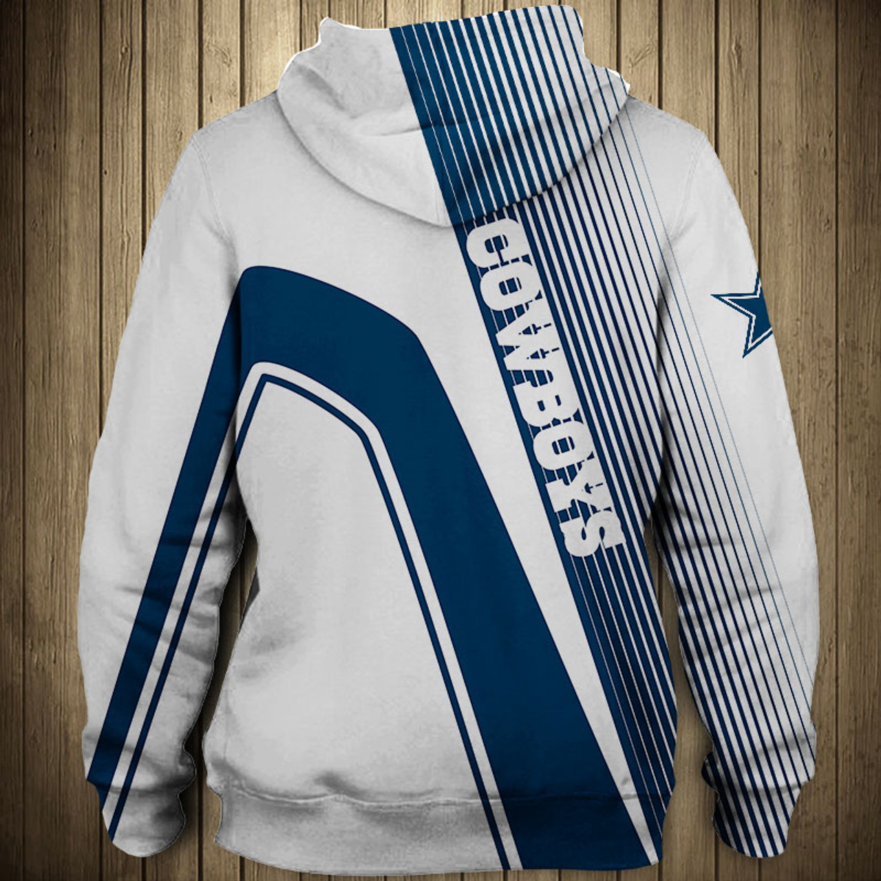 big sale 3d18f a7ae8 **(OFFICIAL-N.F.L.DALLAS-COWBOYS-PULLOVER-HOODIES/3D-CUSTOM-COWBOYS-LOGOS &  OFFICIAL-COWBOYS-TEAM-COLORS/NICE-3D-DETAILED-GRAPHIC-PRINTED-DOUBLE-SIDED...