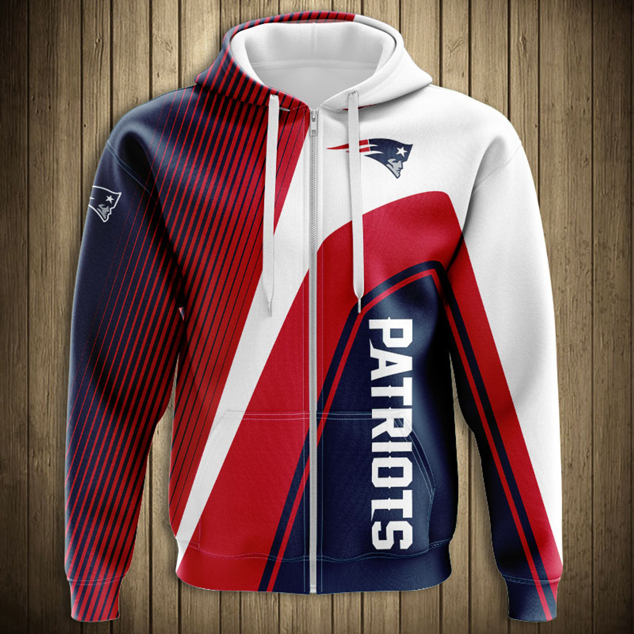 low priced ff617 f7334 **(OFFICIAL-N.F.L.NEW-ENGLAND-PATRIOTS-ZIPPERED-HOODIES/3D-CUSTOM-PATRIOTS-LOGOS  & OFFICIAL-PATRIOTS-TEAM-COLORS/NICE-3D-DETAILED-GRAPHIC-PRINTED-DOUB...