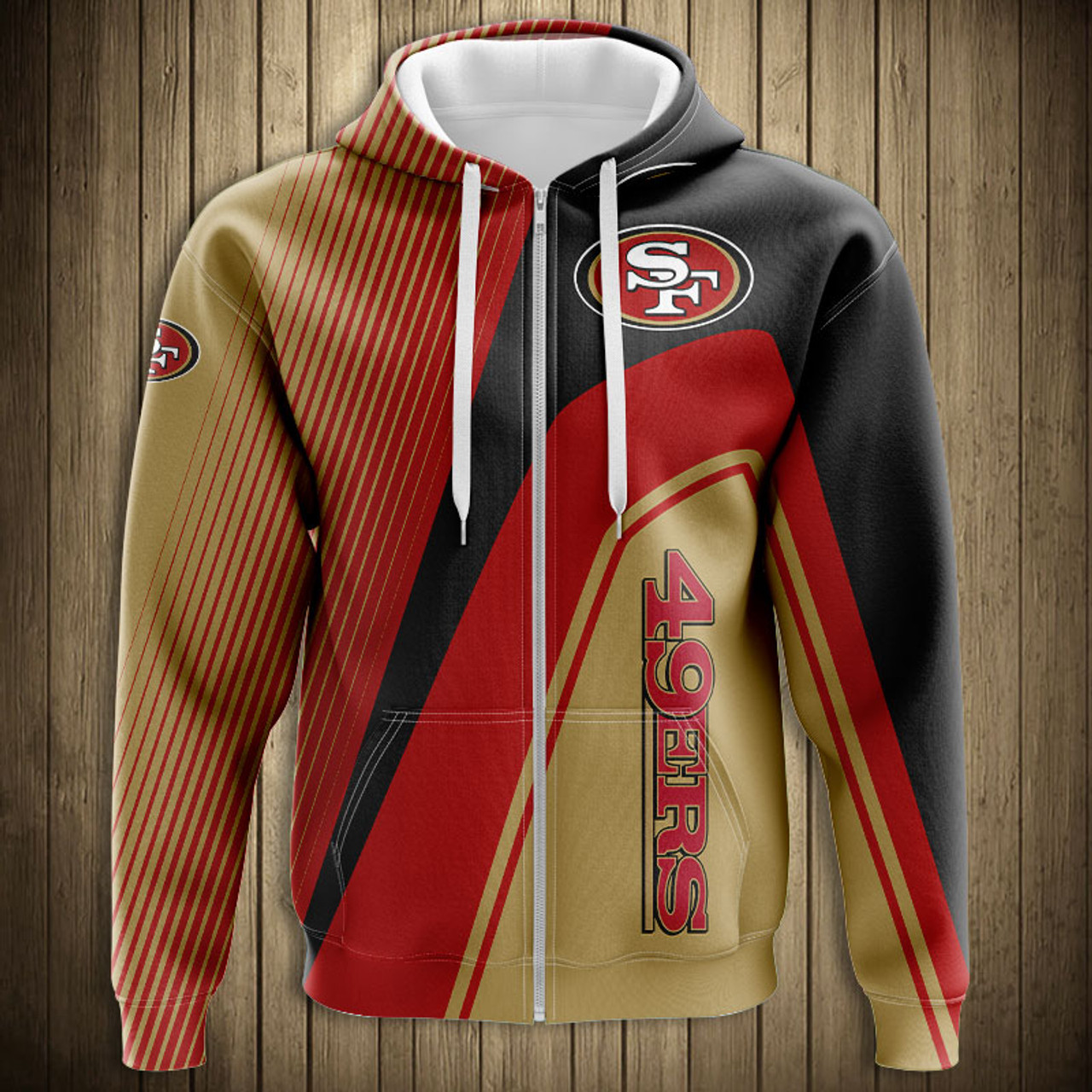 check out c1fb7 8ae97 **(OFFICIAL-N.F.L.SAN-FRANCISCO-49ERS-ZIPPERED-HOODIES/3D-CUSTOM-49ERS-LOGOS  & OFFICIAL-49ERS-TEAM-COLORS/NICE-3D-DETAILED-GRAPHIC-PRINTED-DOUBLE-SIDE...