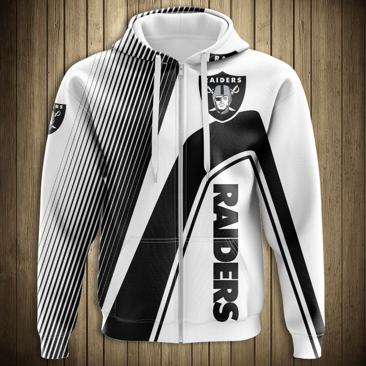 save off ffc2b 6ab79 **(OFFICIAL-N.F.L.OAKLAND-RAIDERS-ZIPPERED-HOODIES/3D-CUSTOM-RAIDERS-LOGOS  &  OFFICIAL-RAIDERS-TEAM-COLORS/NICE-3D-DETAILED-GRAPHIC-PRINTED-DOUBLE-SIDE...