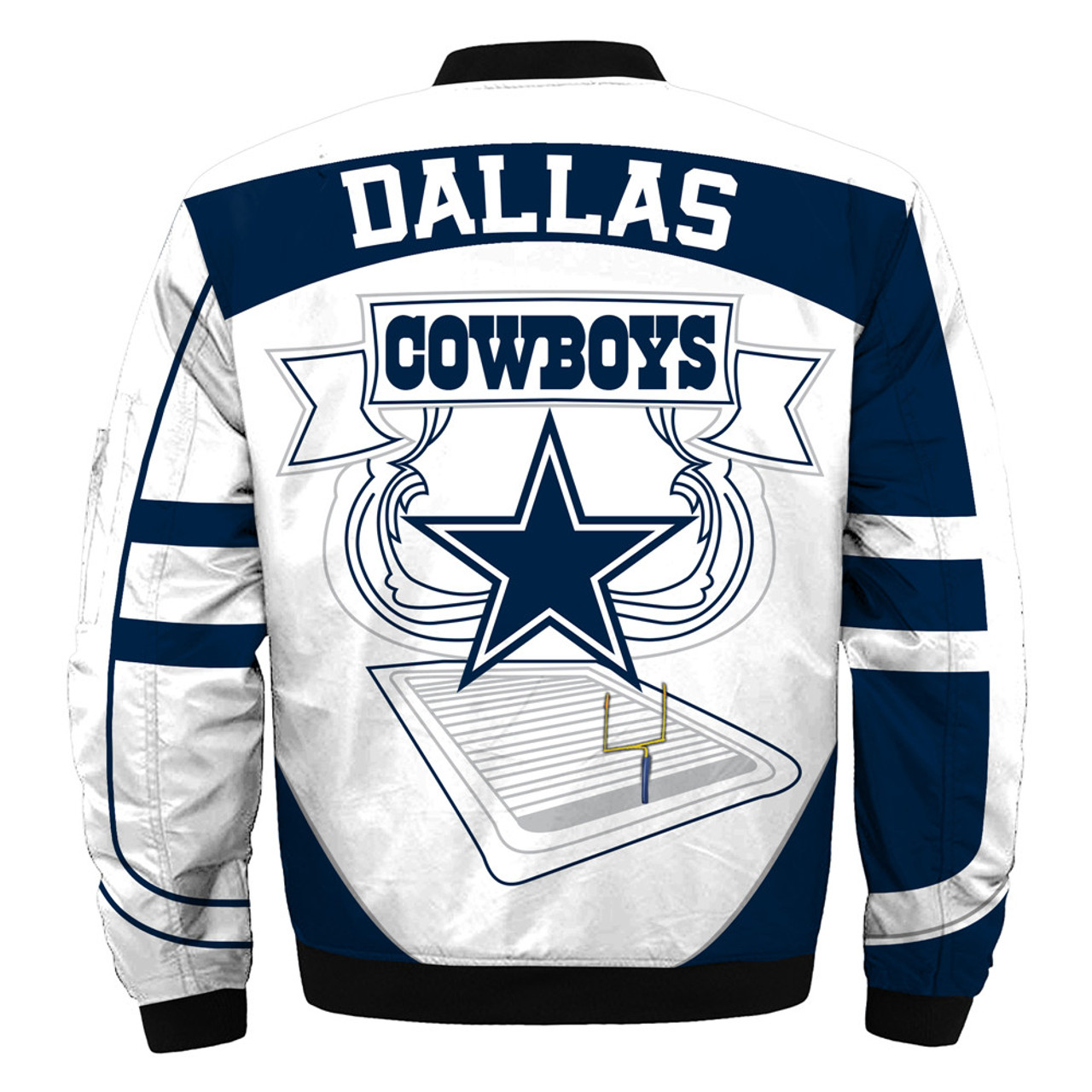 official photos c4c6f afc89 **(OFFICIALLY-LICENSED-N.F.L.DALLAS-COWBOYS & OFFICIAL-COWBOYS-TEAM-COLORS  & OFFICIAL-CLASSIC-COWBOYS-LOGOS-BOMBER/FLIGHT-JACKET & ...