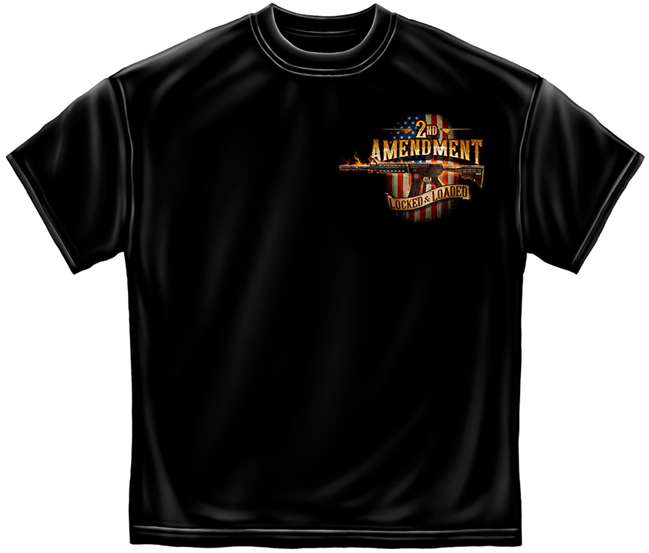 **(NEW-LICENSED,2ND-AMENDMENT-LOCKED & LOADED-SINCE-1791,NICE-GRAPHIC-PRINTED-PREMIUM-DOUBLE-SIDED-TEES:)**
