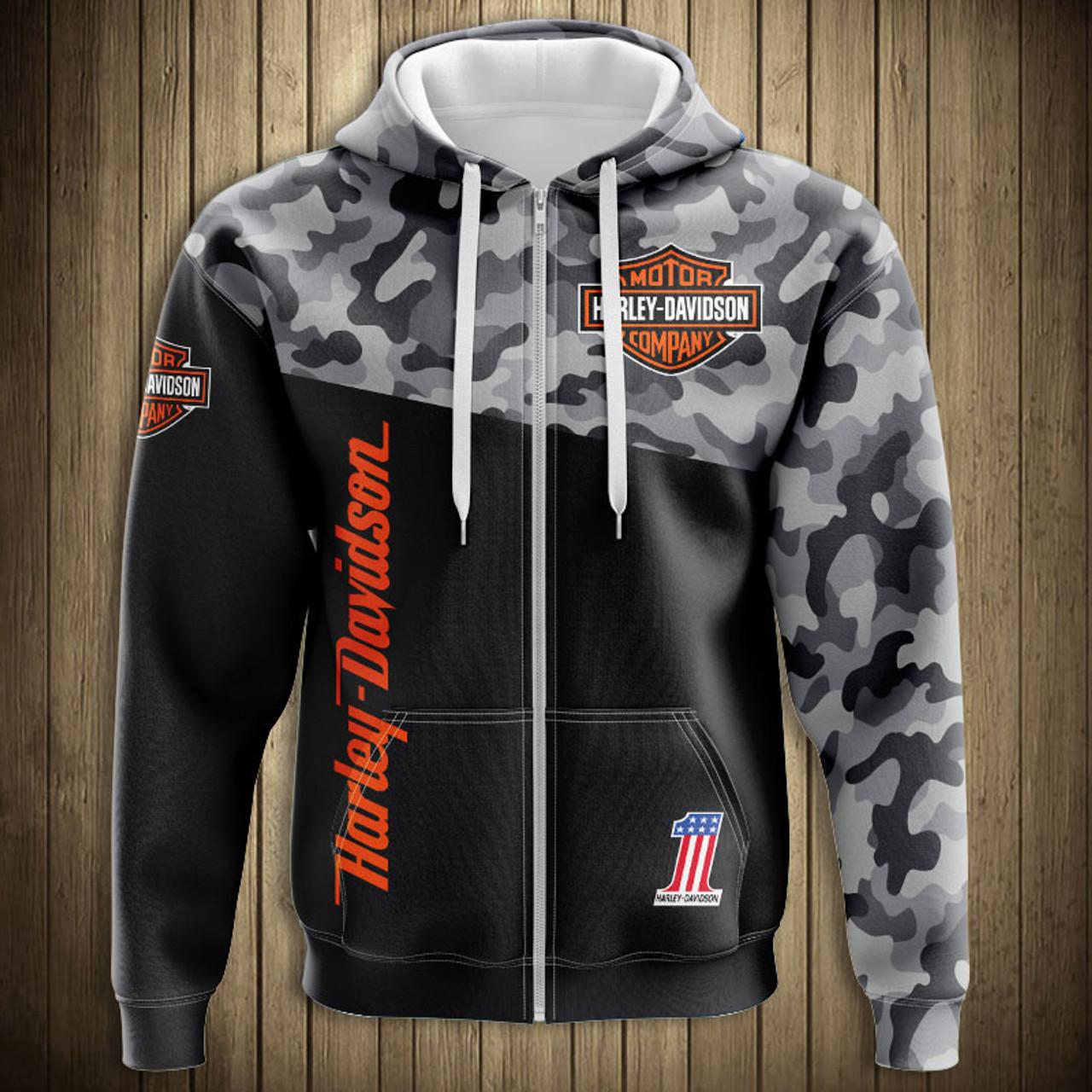 Mens 3D Print Graphic Harley Davidson Mens Sweatpants with Pocket
