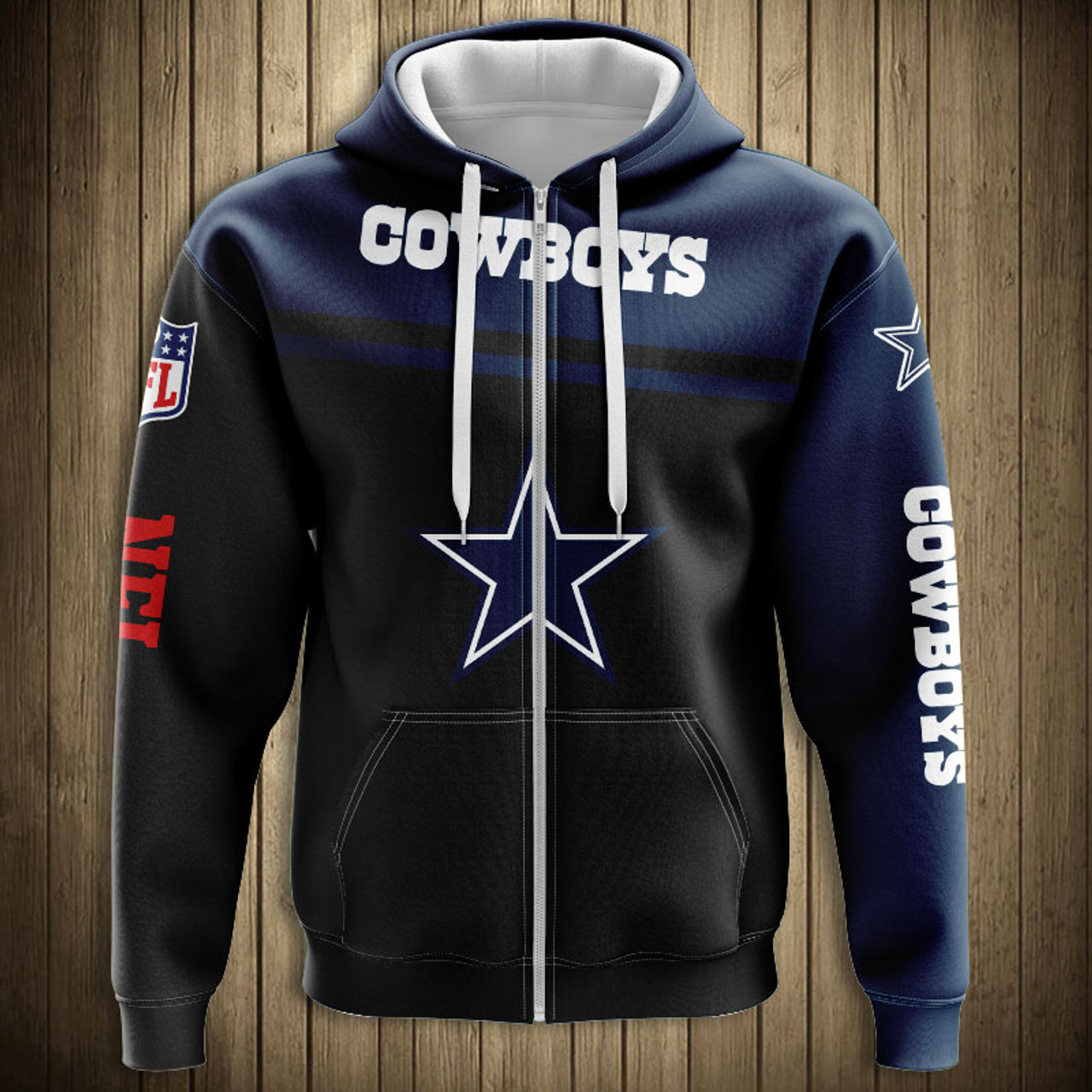 promo code 4f859 30514 **(OFFICIALLY-LICENSED-N.F.L.DALLAS-COWBOYS-TEAM-ZIPPERED-HOODIES/NICE-CUSTOM-3D-GRAPHIC-PRINTED-DOUBLE-SIDED-ALL-OVER-GRAPHIC-COWBOYS-LOGOS  & ...
