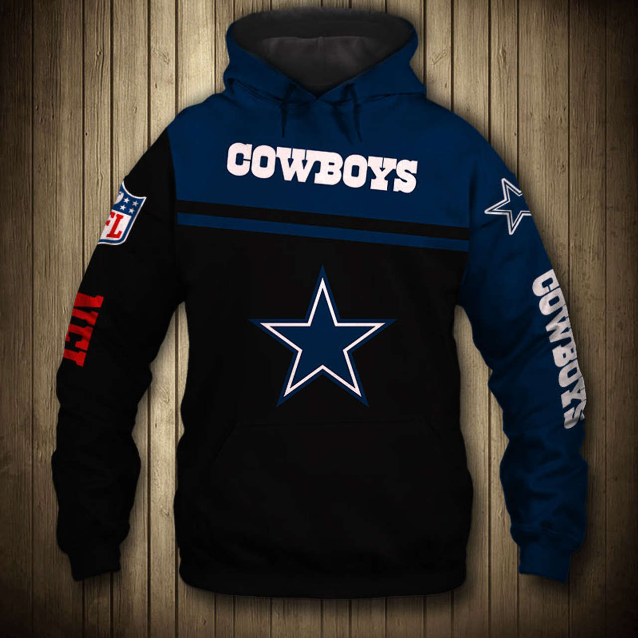 **(OFFICIALLY-LICENSED-N.F.L.DALLAS-COWBOYS-TEAM-PULLOVER-HOODIES/NICE-CUSTOM-3D-GRAPHIC-PRINTED-DOUBLE-SIDED-ALL-OVER-GRAPHIC-COWBOYS-LOGOS & OFFICIAL-COWBOYS-TEAM-COLORS/WARM-PREMIUM-OFFICIAL-N.F.L.COWBOYS-TEAM-PULLOVER-DEEP-POCKET-HOODIES)**