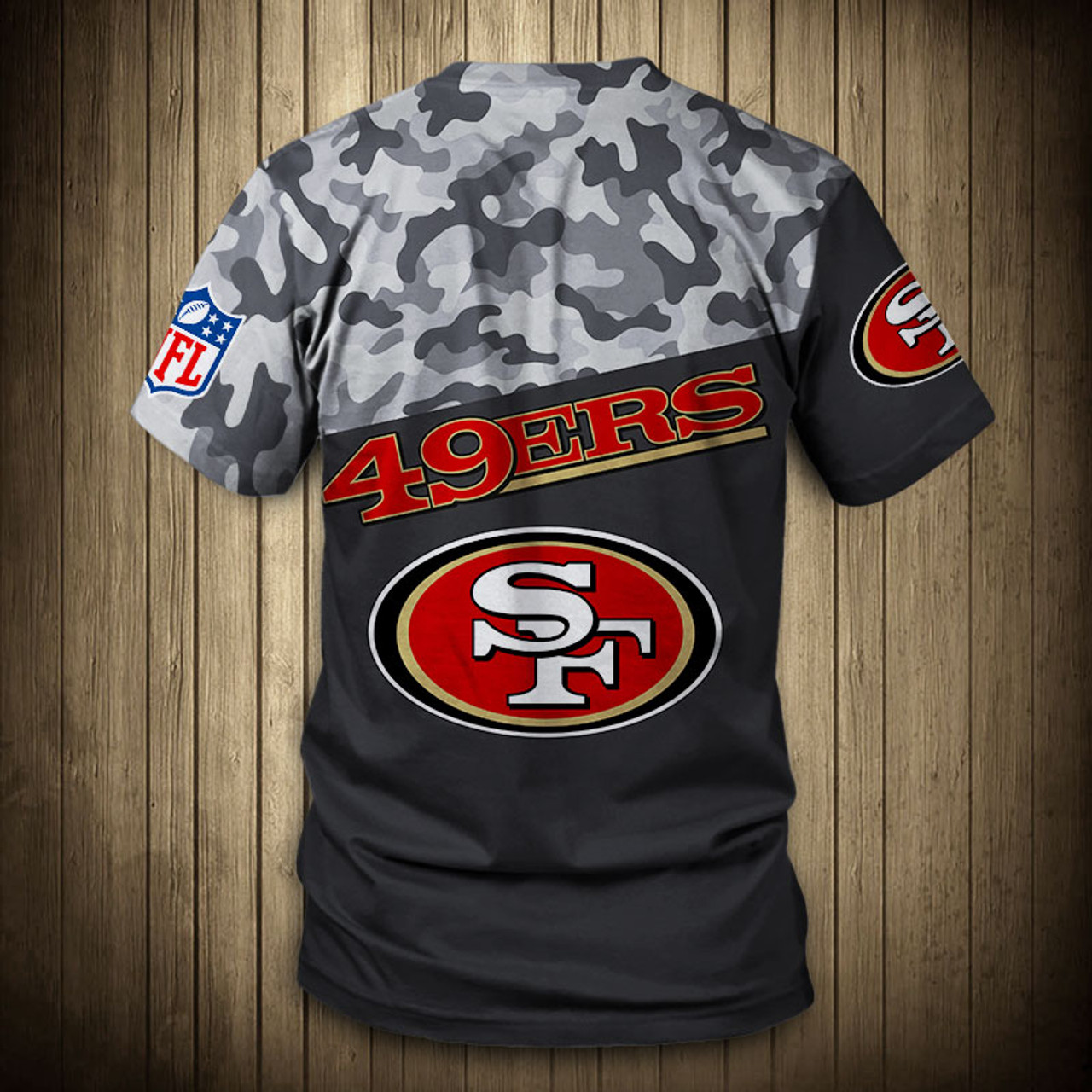**(OFFICIAL-N.F.L.SAN-FRANCISCO-49ERS-CAMO.DESIGN-TEAM-TEES/CUSTOM-3D-49ERS-OFFICIAL-LOGOS & OFFICIAL-49ERS-TEAM-COLORS/NICE-3D-DETAILED-GRAPHIC-PRINTED-DOUBLE-SIDED/ALL-OVER-FRONT & BACK-GRAPHIC-PRINTED-DESIGN/PREMIUM-N.F.L.49ERS-CAMO.TEAM-TEES)**