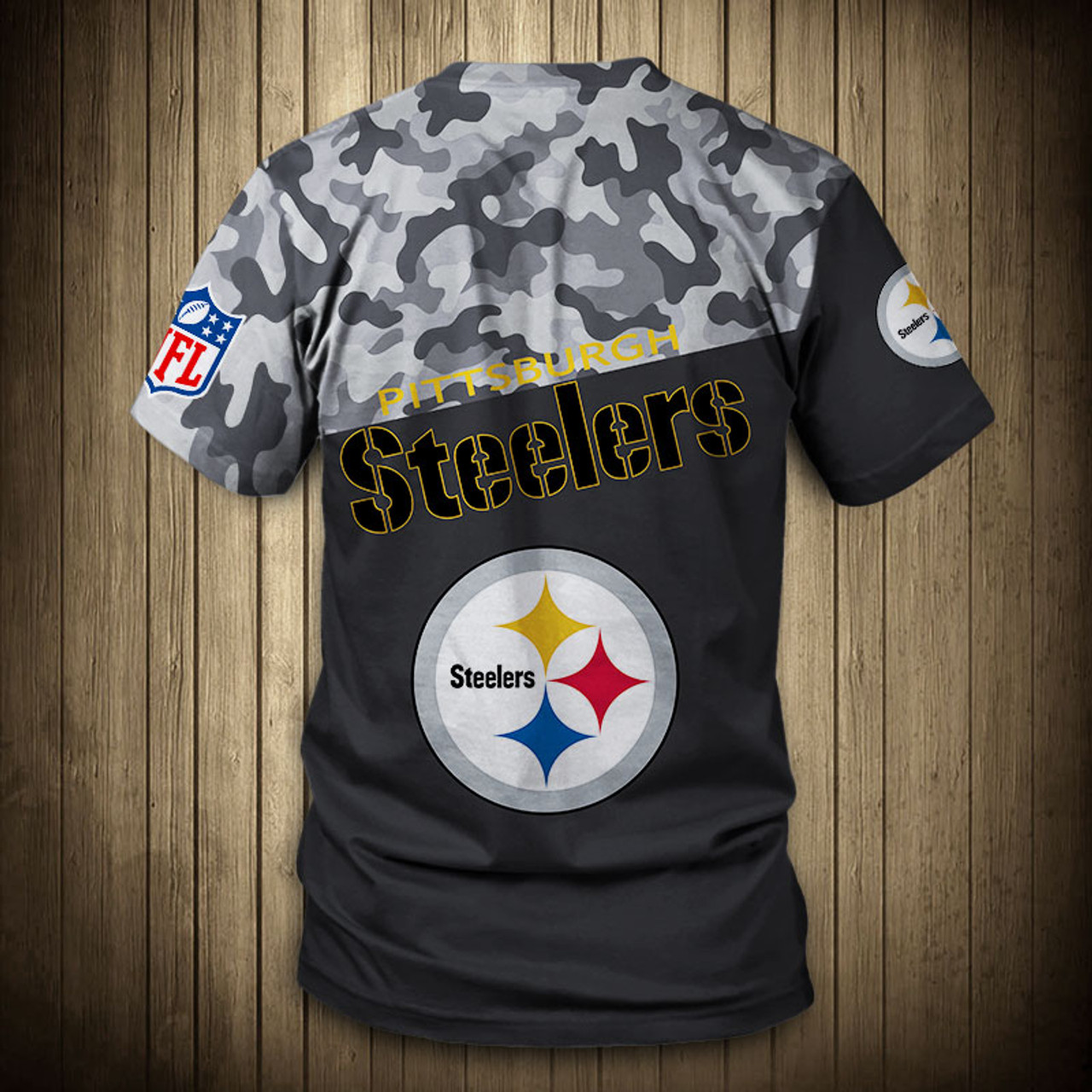 online store 9abd4 03893 **(OFFICIAL-N.F.L.PITTSBURGH-STEELERS-CAMO.DESIGN-TEAM-TEES/CUSTOM-3D-STEELERS-OFFICIAL-LOGOS  & OFFICIAL-STEELERS-TEAM-COLORS/DETAILED-GRAPHIC-PRINTED...