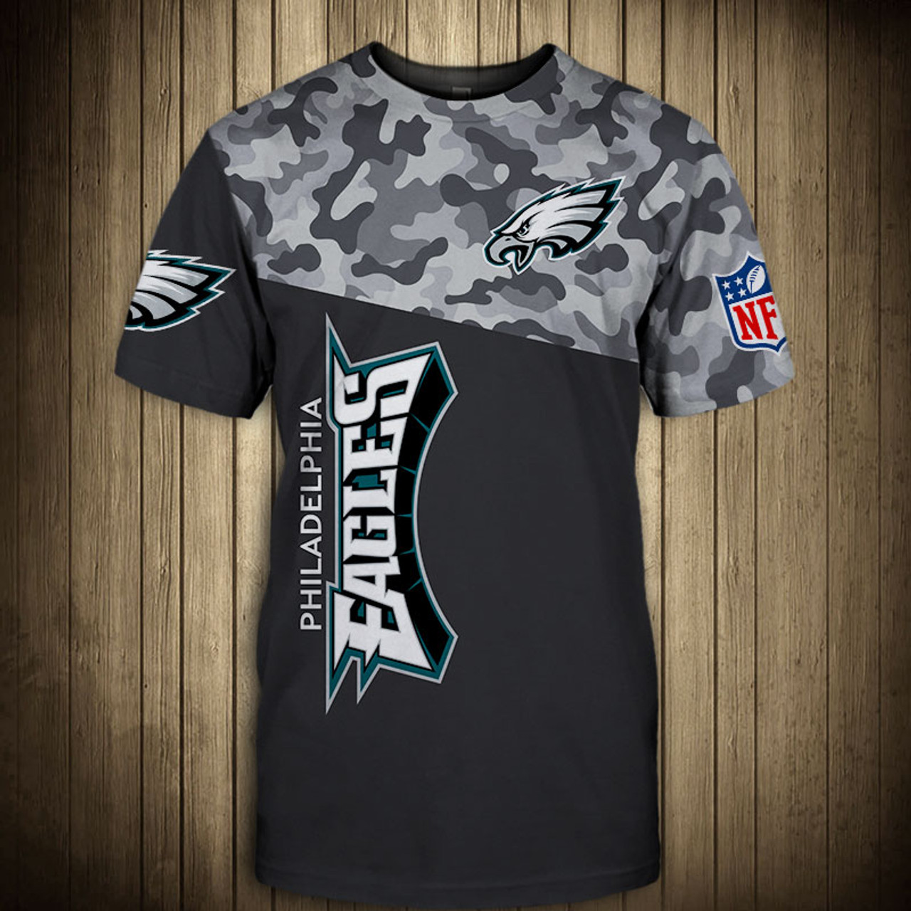 huge selection of 313d5 5b481 **(OFFICIAL-N.F.L.PHILADELPHIA-EAGLES-CAMO.DESIGN-TEAM-TEES/CUSTOM-3D-EAGLES-OFFICIAL-LOGOS  & OFFICIAL-EAGLES-TEAM-COLORS/DETAILED-3D-GRAPHIC-PRINTED-...