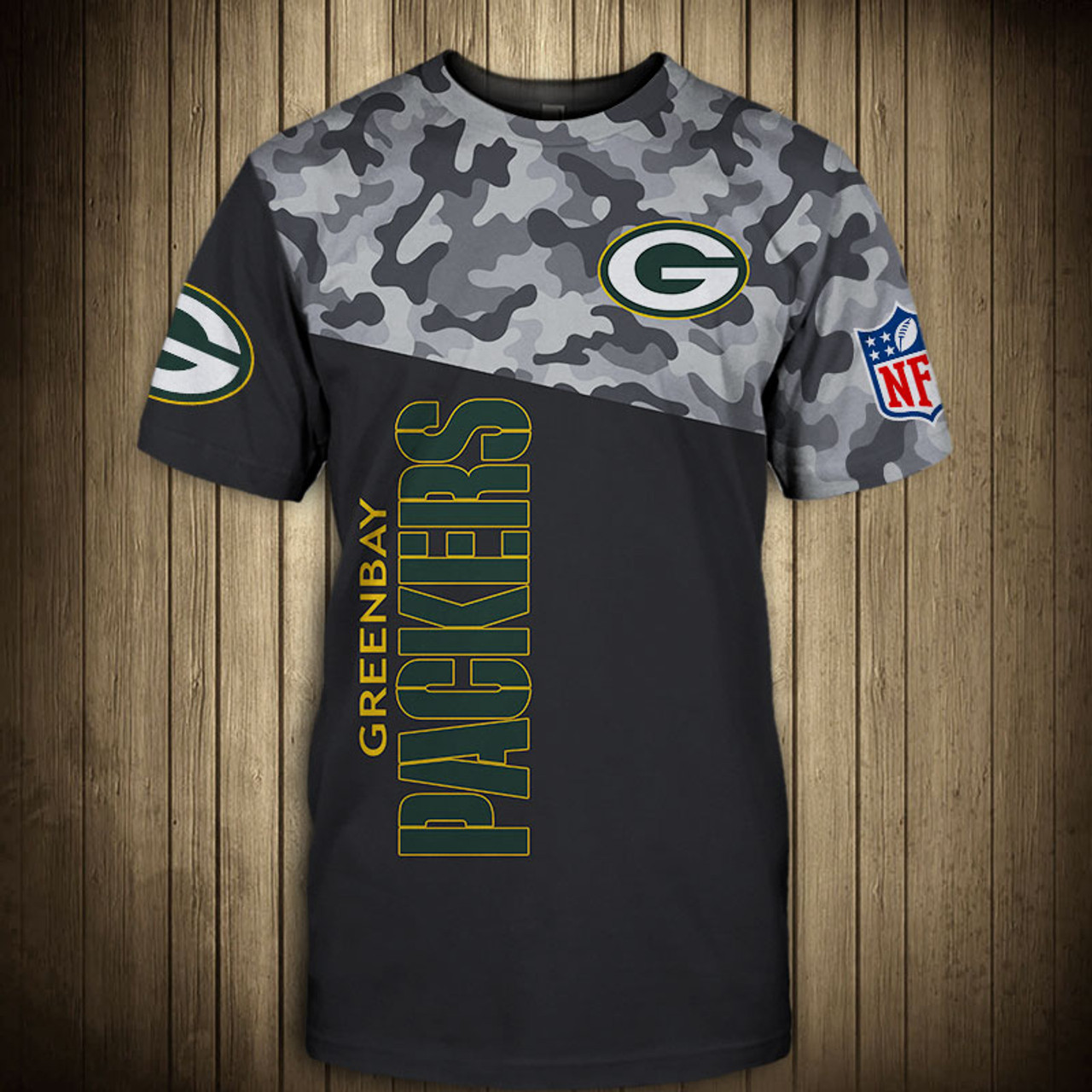 finest selection ee278 14093 **(OFFICIAL-N.F.L.GREEN-BAY-PACKERS-CAMO.DESIGN-TEAM-TEES/CUSTOM-3D-PACKERS-OFFICIAL-LOGOS  & OFFICIAL-PACKERS-TEAM-COLORS/DETAILED-3D-GRAPHIC-PRINTED-...