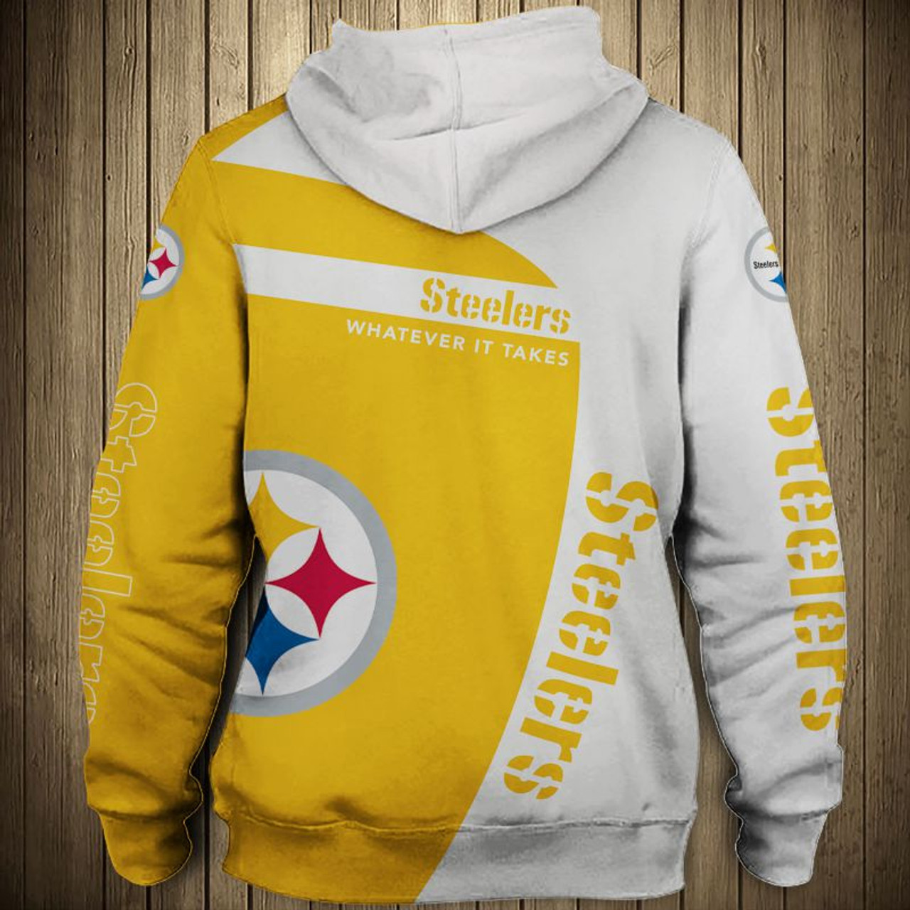 new arrivals 0dfab 1a139 **(OFFICIAL-N.F.L.PITTSBURGH-STEELERS-ZIPPERED-HOODIES/3D-CUSTOM-STEELERS-LOGOS  & OFFICIAL-STEELERS-TEAM-COLORS/NICE-3D-DETAILED-GRAPHIC-PRINTED-DOUBL...