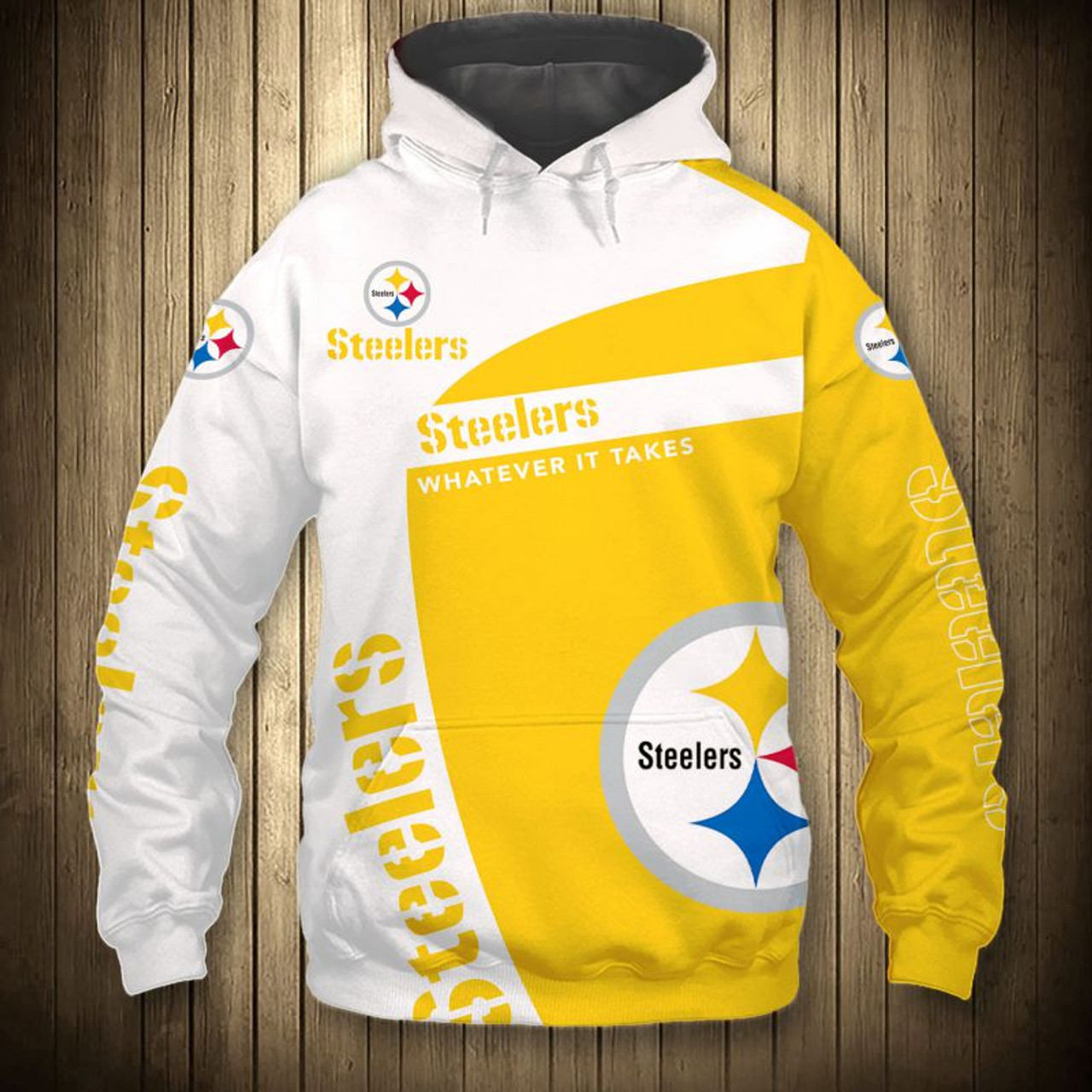 pretty nice e08cc 2b46b **(OFFICIAL-N.F.L.PITTSBURGH-STEELERS-PULLOVER-HOODIES/3D-CUSTOM-STEELERS-LOGOS  & OFFICIAL-STEELERS-TEAM-COLORS/NICE-3D-DETAILED-GRAPHIC-PRINTED-DOUBL...