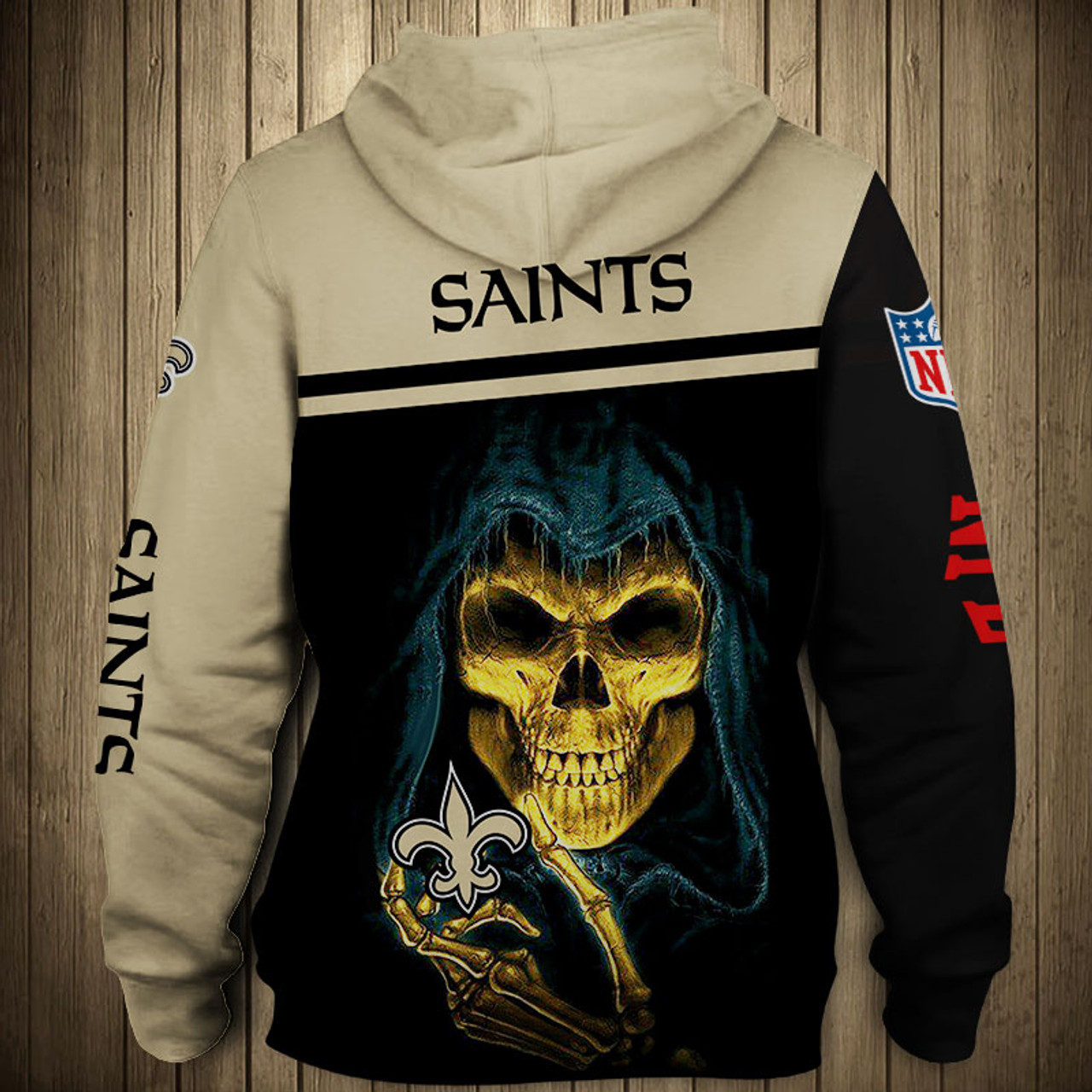 official photos dd68f 20f17 **(OFFICIAL-NEW-N.F.L.NEW-ORLEANS-SAINTS-TEAM-PULLOVER-HOODIES/NICE-CUSTOM-3D-GRAPHIC-PRINTED-DOUBLE-SIDED-ALL-OVER-GRAPHIC-SAINTS-LOGOS  & ...
