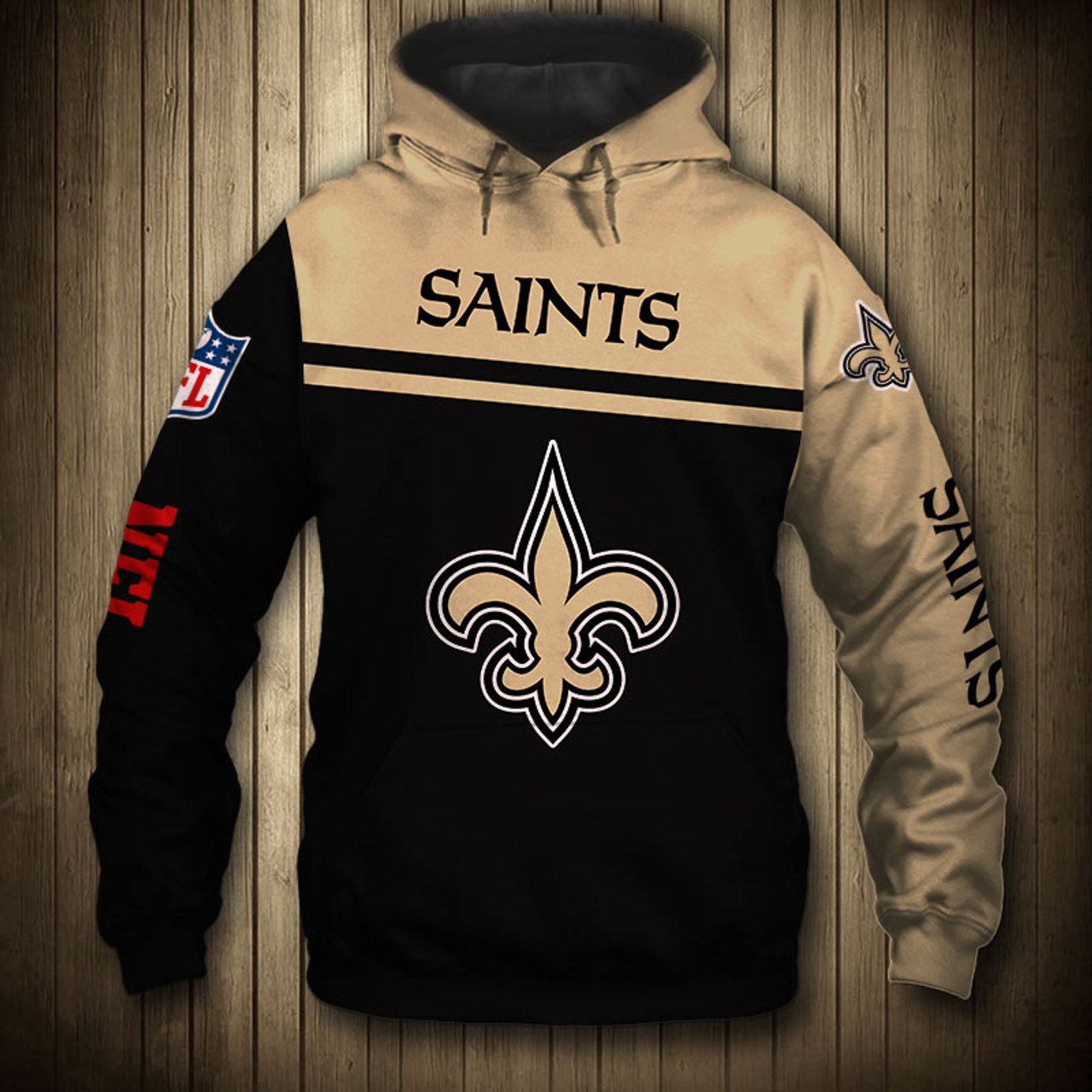 official photos 36cfa 5edc5 **(OFFICIAL-NEW-N.F.L.NEW-ORLEANS-SAINTS-TEAM-PULLOVER-HOODIES/NICE-CUSTOM-3D-GRAPHIC-PRINTED-DOUBLE-SIDED-ALL-OVER-GRAPHIC-SAINTS-LOGOS  & ...