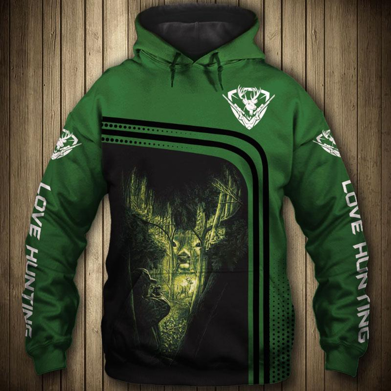 c5736d3b **(OFFICIAL-BUCK-HUNTING-HOODIES/3-D-CUSTOM-DETAILED-GRAPHIC-PRINTED /DOUBLE-SIDED-ALL-OVER-PRINTED-DESIGN/LOVE-HUNTING-DOWN-SLEEVES ...