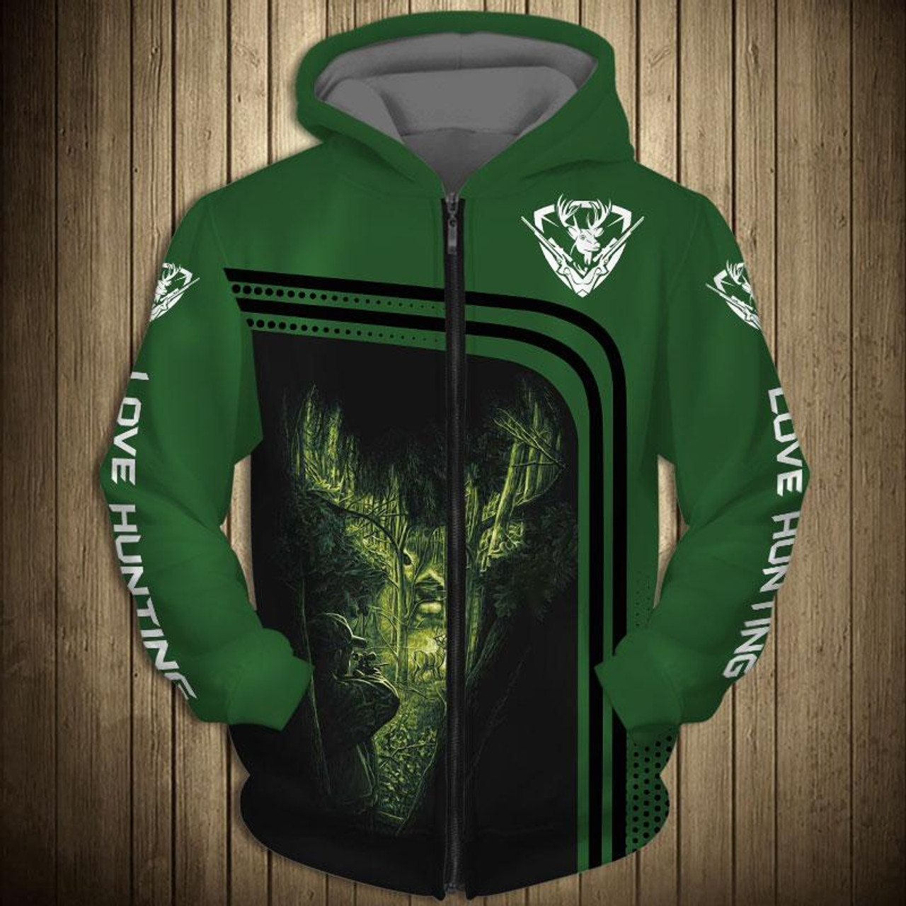 3abf3b9c **(OFFICIAL-BUCK-HUNTING-ZIPPERED-HOODIES/3-D-CUSTOM-DETAILED-GRAPHIC- PRINTED/DOUBLE-SIDED-ALL-OVER-PRINTED-DESIGN/LOVE-HUNTING-DOWN-SLEEVES ...