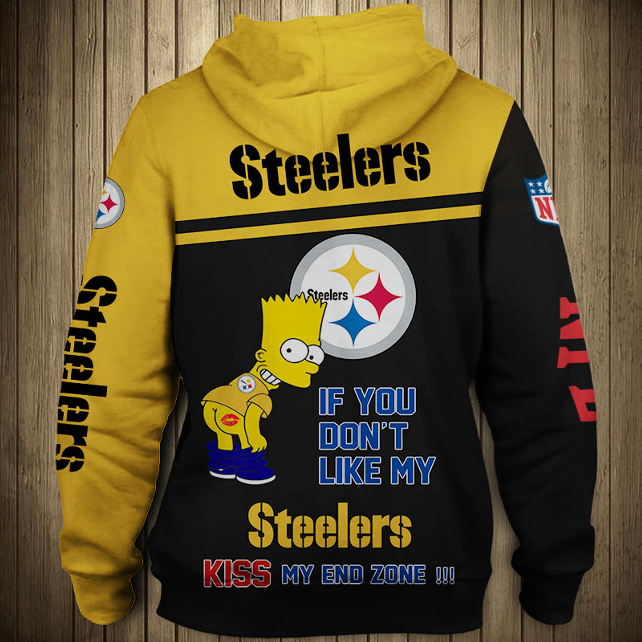 new product a1d9a 8863d **(OFFICIAL-N.F.L.PITTSBURGH-STEELERS-PULLOVER-HOODIES/3D-CUSTOM-STEELERS-LOGOS  & OFFICIAL-STEELERS-TEAM-COLORS/CUSTOM-3D-GRAPHIC-PRINTED-DOUBLE-SIDED...