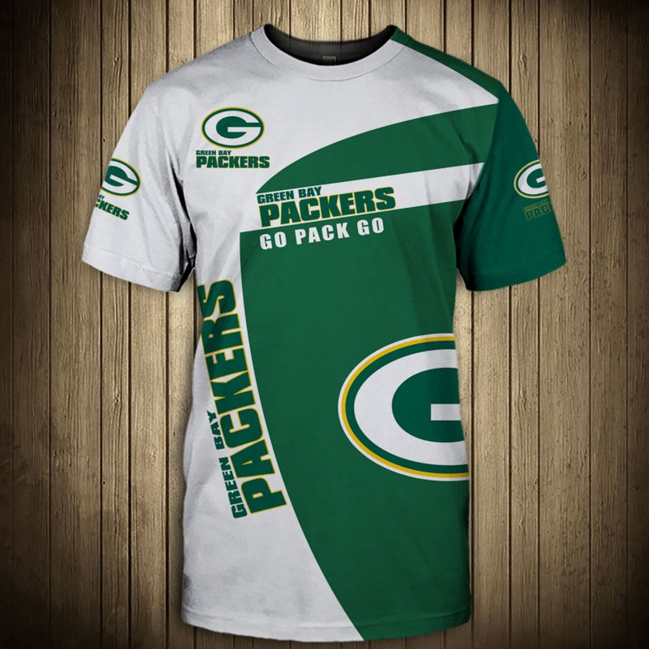 best service a5cbd f46a1 **(OFFICIAL-N.F.L.GREEN-BAY-PACKERS-TRENDY-GAME-DAY-TEAM-TEES/CUSTOM-3D-GRAPHIC-PRINTED-DETAILED-DOUBLE-SIDED-ALL-OVER/CLASSIC-OFFICIAL-PACKERS-LOGOS  ...