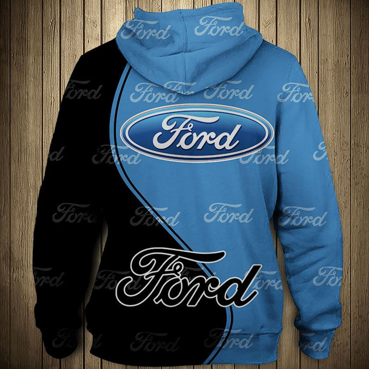 Official New Ford Zippered Front Hoodies Nice Custom 3d Official Ford Graphic Logos Official Classic
