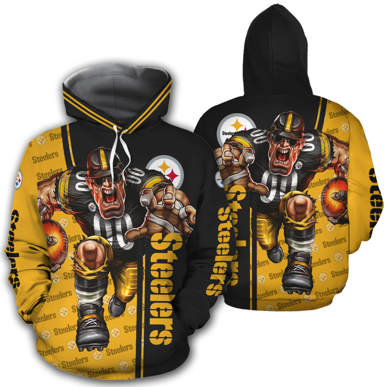 **(OFFICIAL-N.F.L.PITTSBURGH-STEELERS-PULLOVER-HOODIES/OFFICIAL-STEELERS-LOGOS & OFFICIAL-STEELERS-CLASSIC-TEAM-COLORS/NICE-3D-DETAILED-GRAPHIC-PRINTED-DOUBLE-SIDED/ALL-OVER-HOODIE-PRINTED-DESIGN/WARM-PREMIUM-N.FL.STEELERS-TEAM-GAME-DAY-PULLOVER-HOODIES)**
