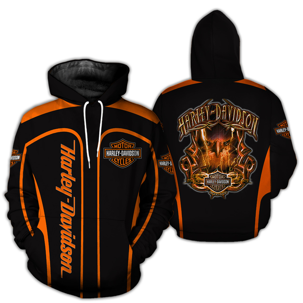 **(OFFICIAL-HARLEY-DAVIDSON-MOTORCYCLE-BIKER-PULLOVER-HOODIE/CUSTOM-DETAILED-3D-GRAPHIC-PRINTED-DOUBLE-SIDED-DESIGN/CLASSIC-OFFICIAL-CUSTOM-HARLEY-LOGOS & OFFICIAL-HARLEY-BLACK & ORANGE-COLORS/WARM-PREMIUM-RIDING-HARLEY-BIKERS-PULLOVER-HOODIES)**
