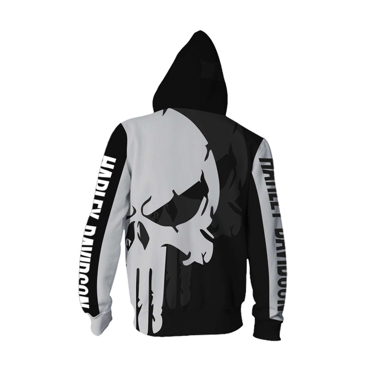 **(OFFICIAL-HARLEY-DAVIDSON-MOTORCYCLE-PULLOVER-SKULL-HOODIES/CUSTOM-3D-GRAPHIC-PRINTED-PUNISHER-SKULL-DESIGN/FEATURING-OFFICIAL-CUSTOM-HARLEY-LOGOS & OFFICIAL-CLASSIC-HARLEY-COLORS/3D-DOUBLE-SIDED-GRAPHIC-DESIGN/WARM-PREMIUM-HARLEY-RIDING-HOODIES)**