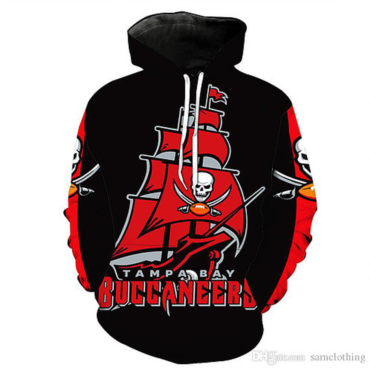 **(OFFICIALLY-LICENSED-N.F.L.TAMPA-BAY-BUCCANEERS-TEAM-PULLOVER-HOODIES/NEW-CUSTOM-3D-GRAPHIC-PRINTED-DOUBLE-SIDED-DESIGNED/ALL-OVER-OFFICIAL-BUCCANEERS-LOGOS & IN-BUCCANEERS-TEAM-COLORS/WARM-PREMIUM-OFFICIAL-N.F.L.BUCCANEERS-TEAM/PULLOVER-POCKET-HOODIES)**