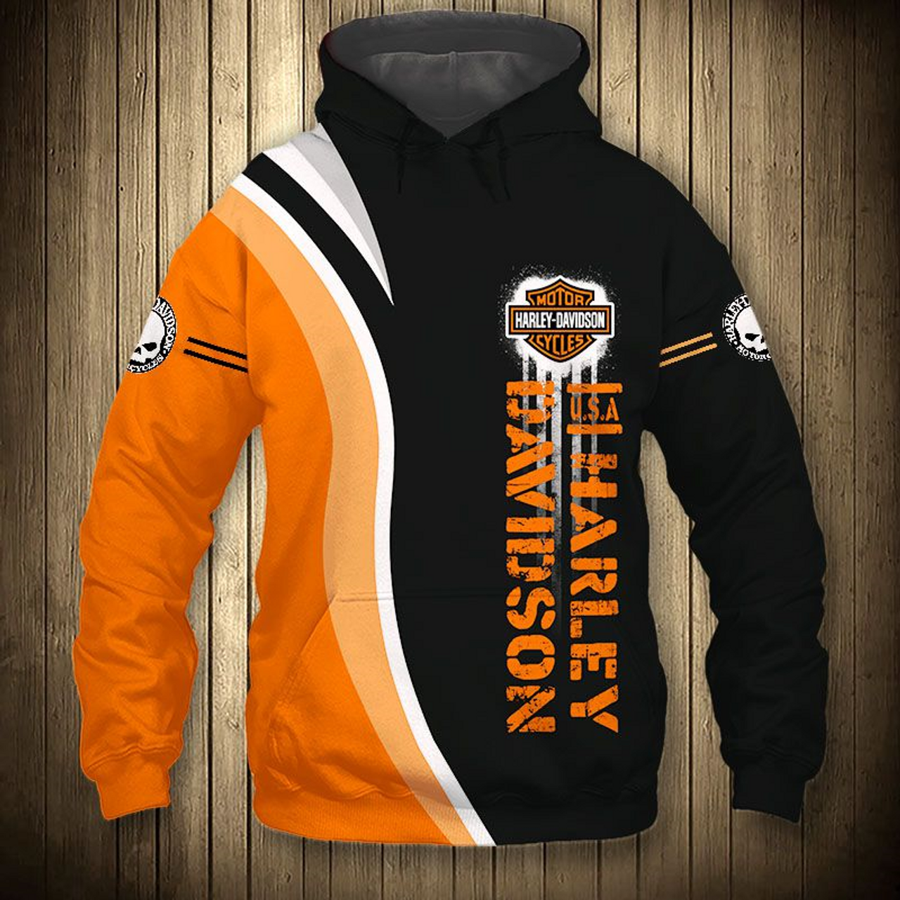 **(OFFICIAL-HARLEY-DAVIDSON-MOTORCYCLE-BIKER-PULLOVER-HOODIES/CUSTOM-DETAILED-3D-GRAPHIC-PRINTED-DOUBLE-SIDED-DESIGN/CLASSIC-OFFICIAL-CUSTOM-HARLEY-LOGOS & OFFICIAL-HARLEY-BLACK & ORANGE-COLORS/WARM-PREMIUM-HARLEY-BIKERS-PULLOVER-HOODIE)**