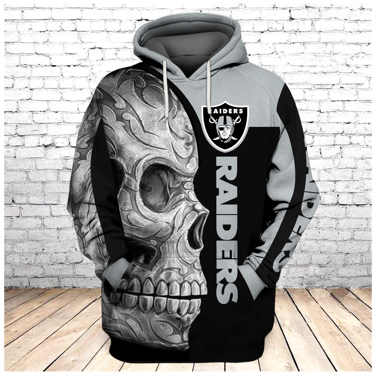 Oakland Raiders Football Pullover Hooded Sweatshirt